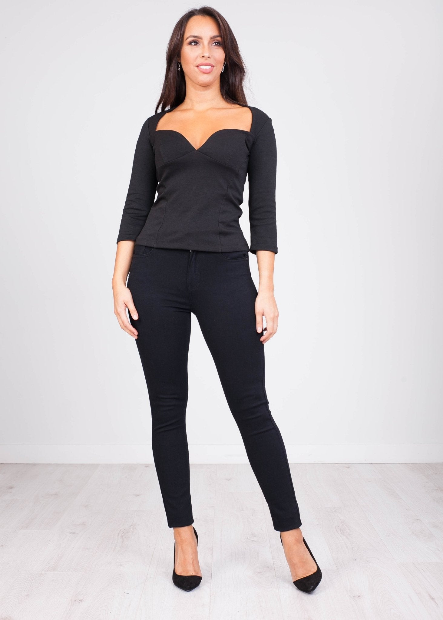 FiFi Black Top - The Walk in Wardrobe