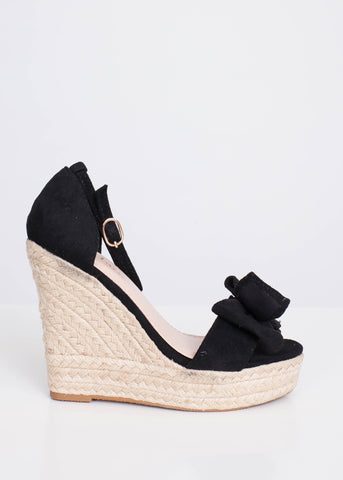 FiFi Black Wedges - The Walk in Wardrobe