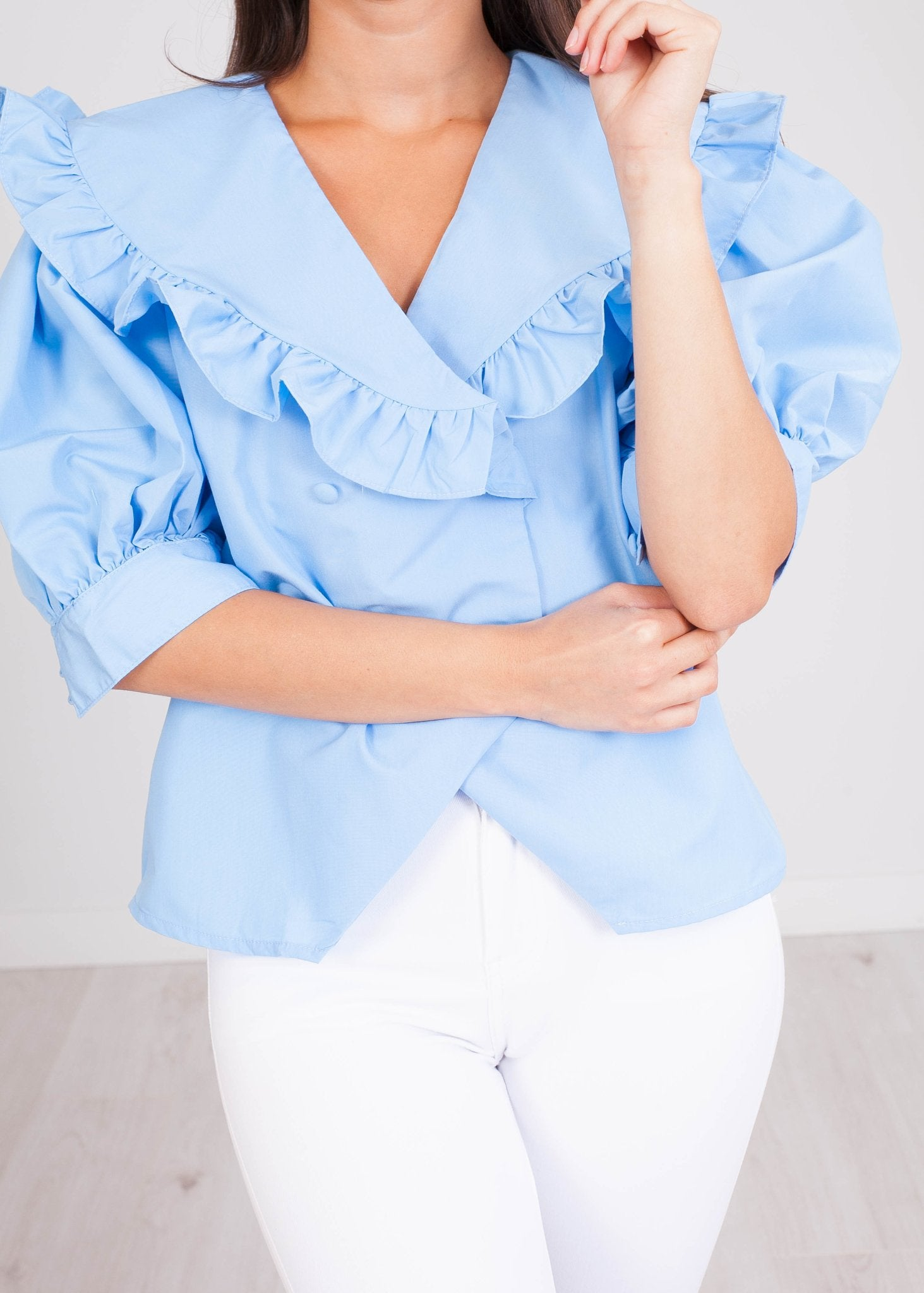 FiFi Blue Top - The Walk in Wardrobe