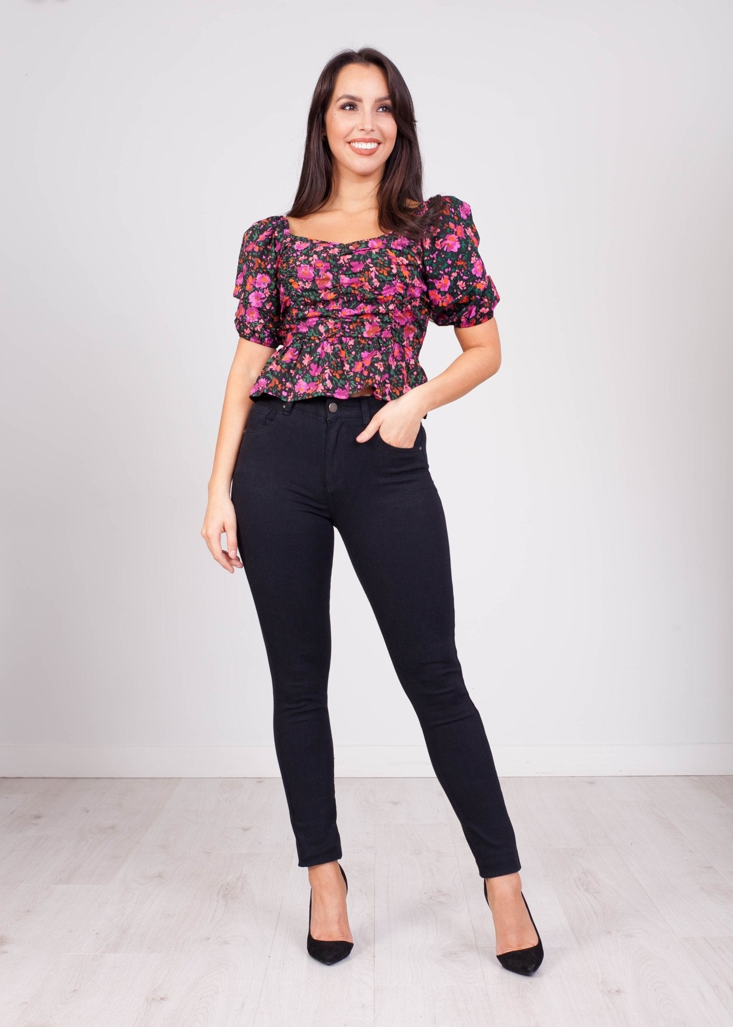Fifi Floral Bardot Top - The Walk in Wardrobe