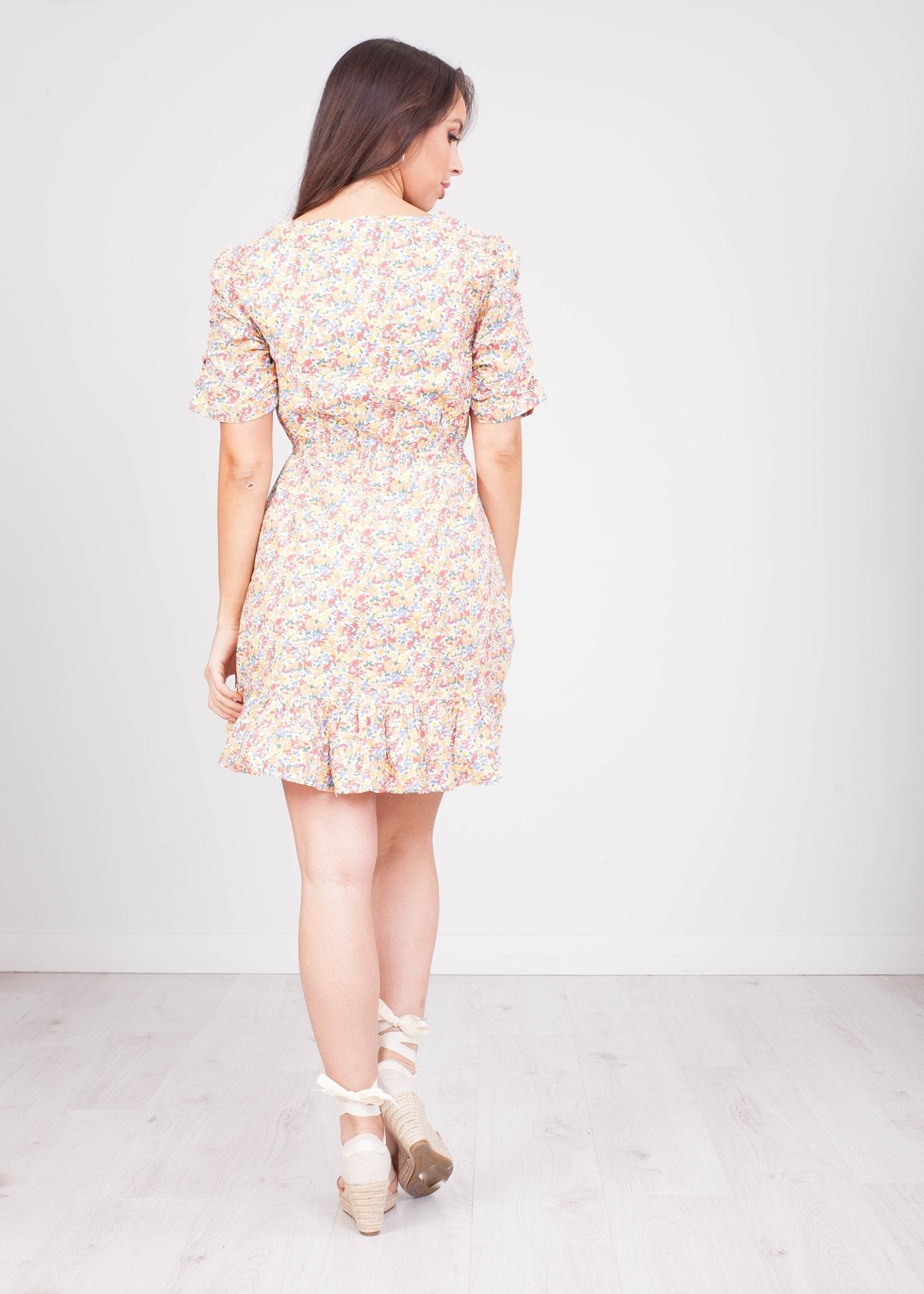 Fifi Floral Multi Colour Mini Dress - The Walk in Wardrobe
