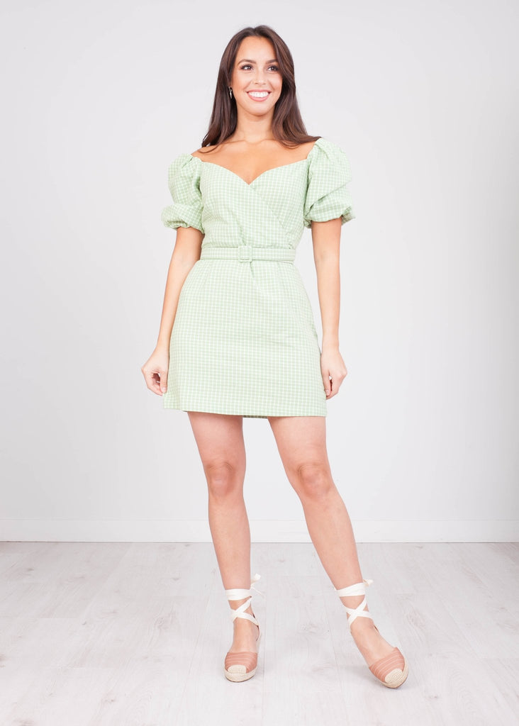 FiFi Green & White Check Dress - The Walk in Wardrobe