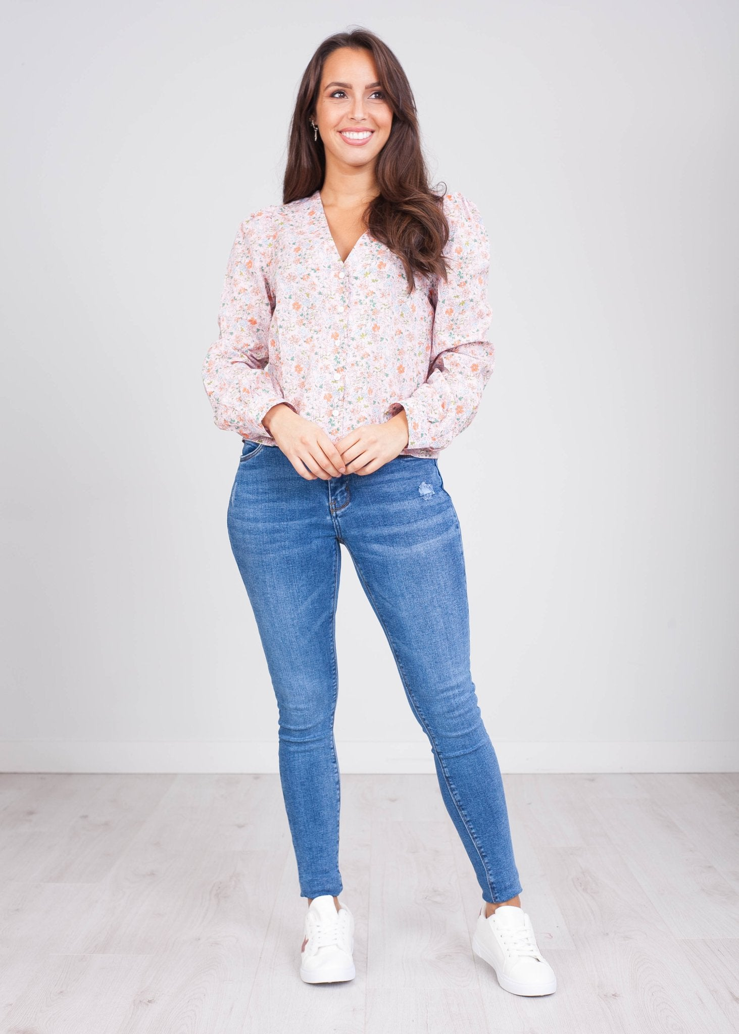 Fifi Pink Button up Blouse - The Walk in Wardrobe
