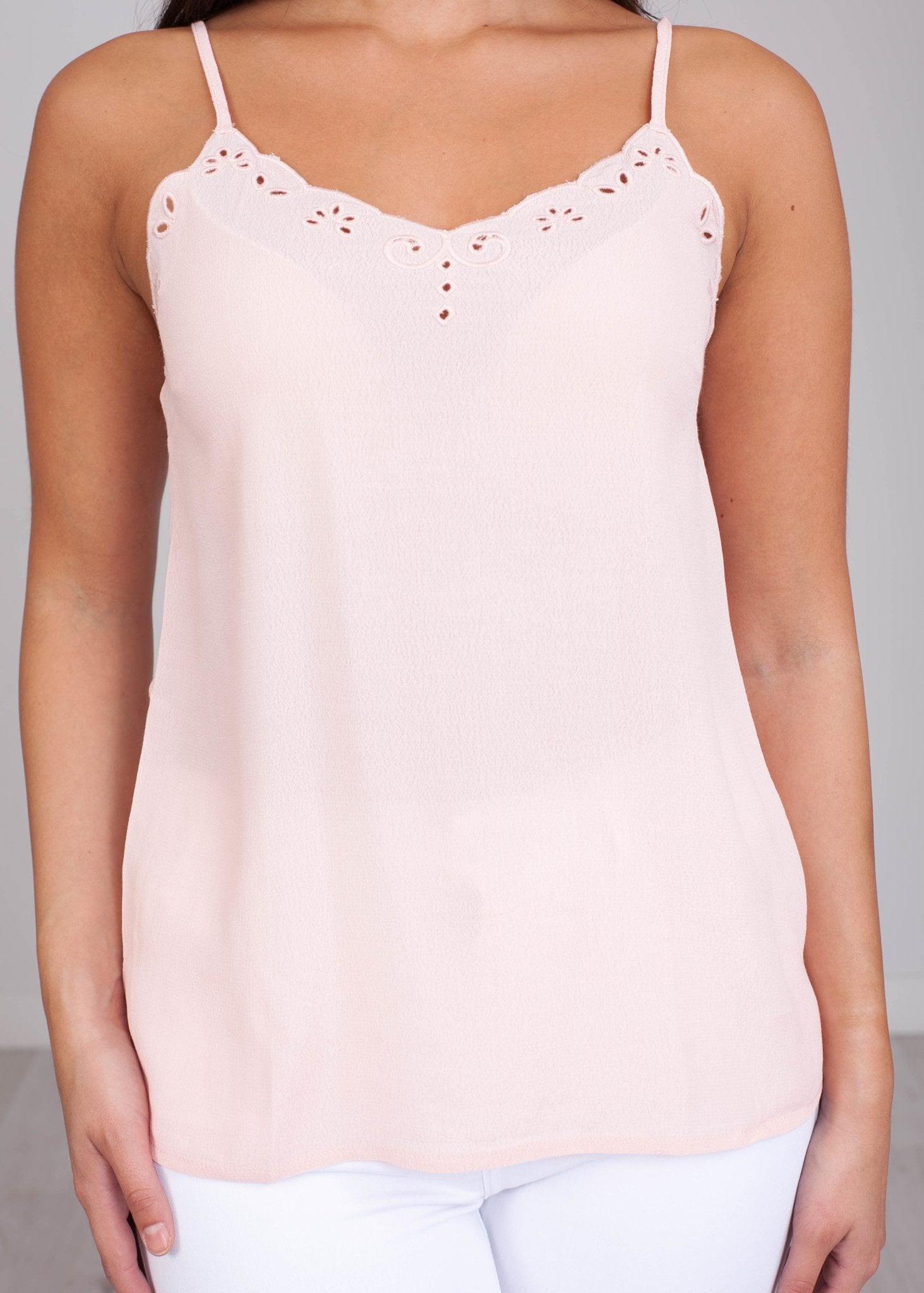 FiFi Pink Embroidery Cami - The Walk in Wardrobe