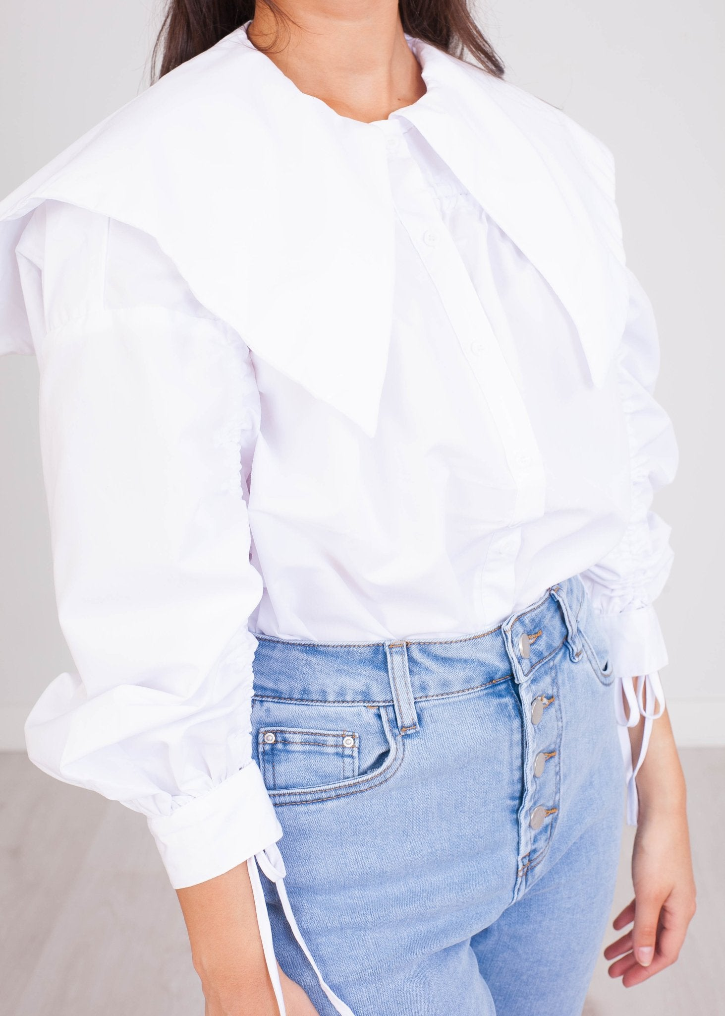 FiFi White Blouse - The Walk in Wardrobe