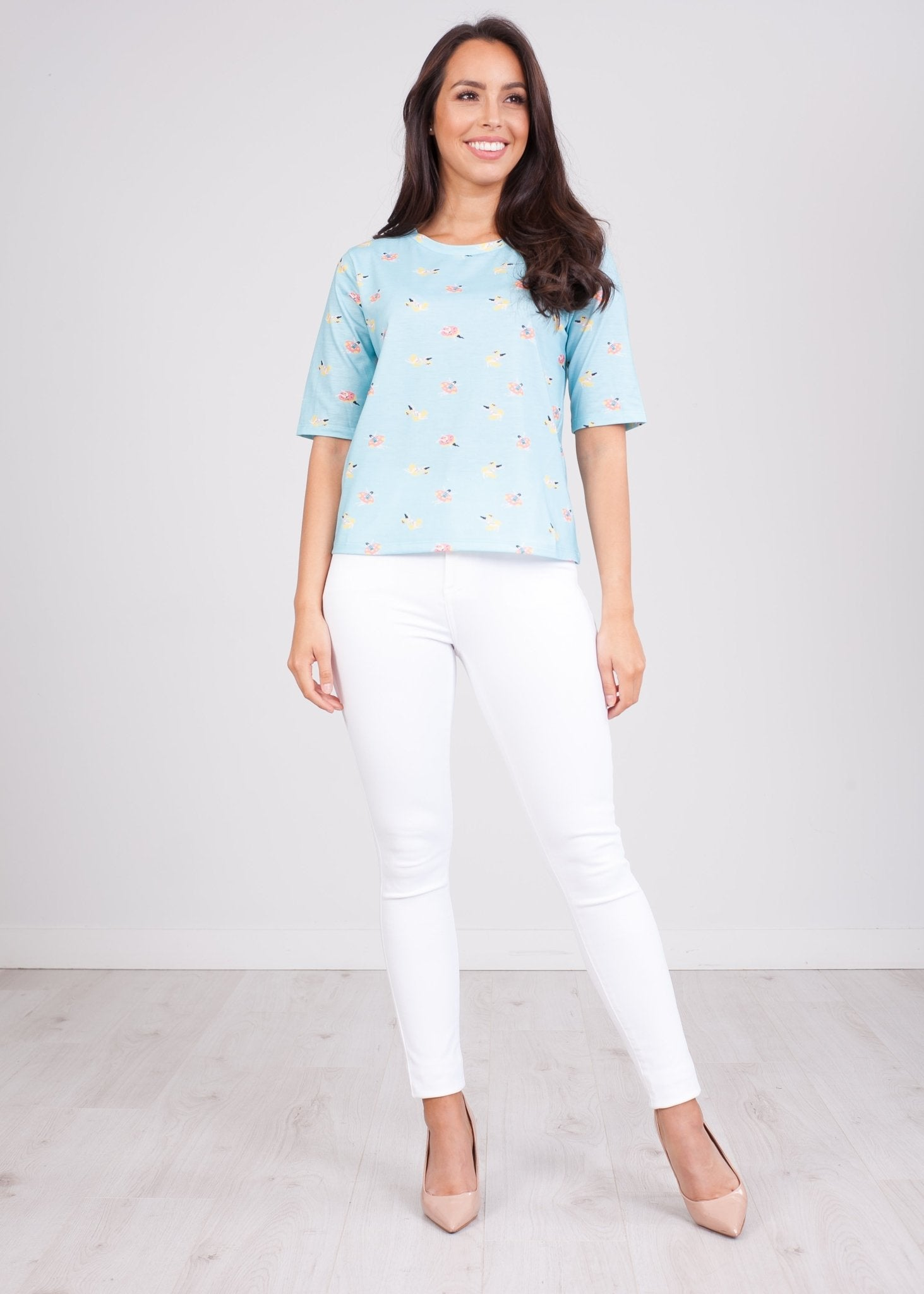 Frankie Blue Printed T-Shirt - The Walk in Wardrobe