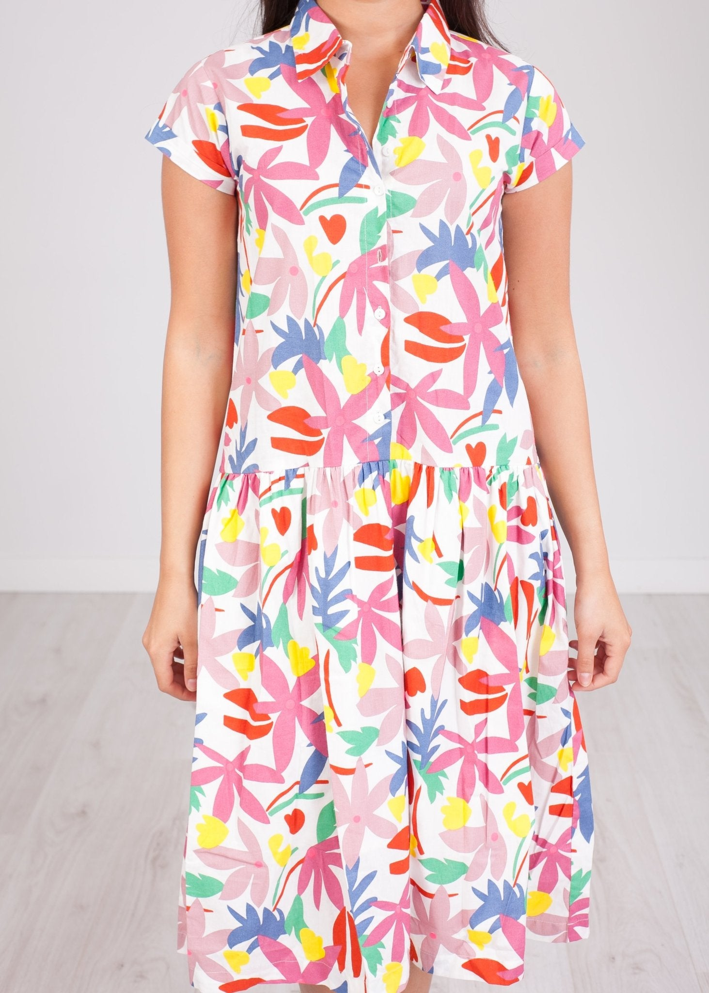 Frankie Floral Printed Shirt Dress - The Walk in Wardrobe