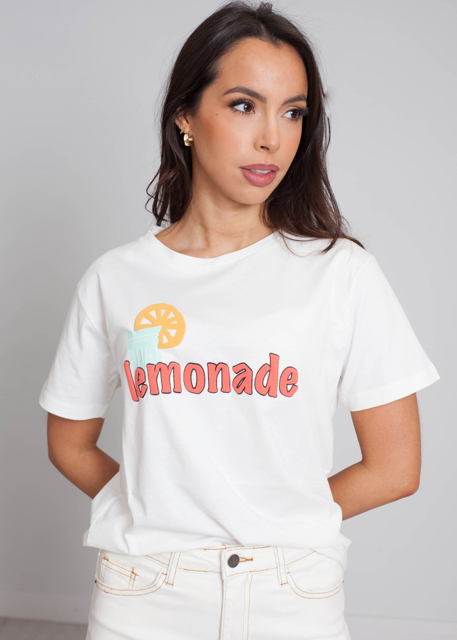 Frankie Lemonade T-Shirt In Cream - The Walk in Wardrobe