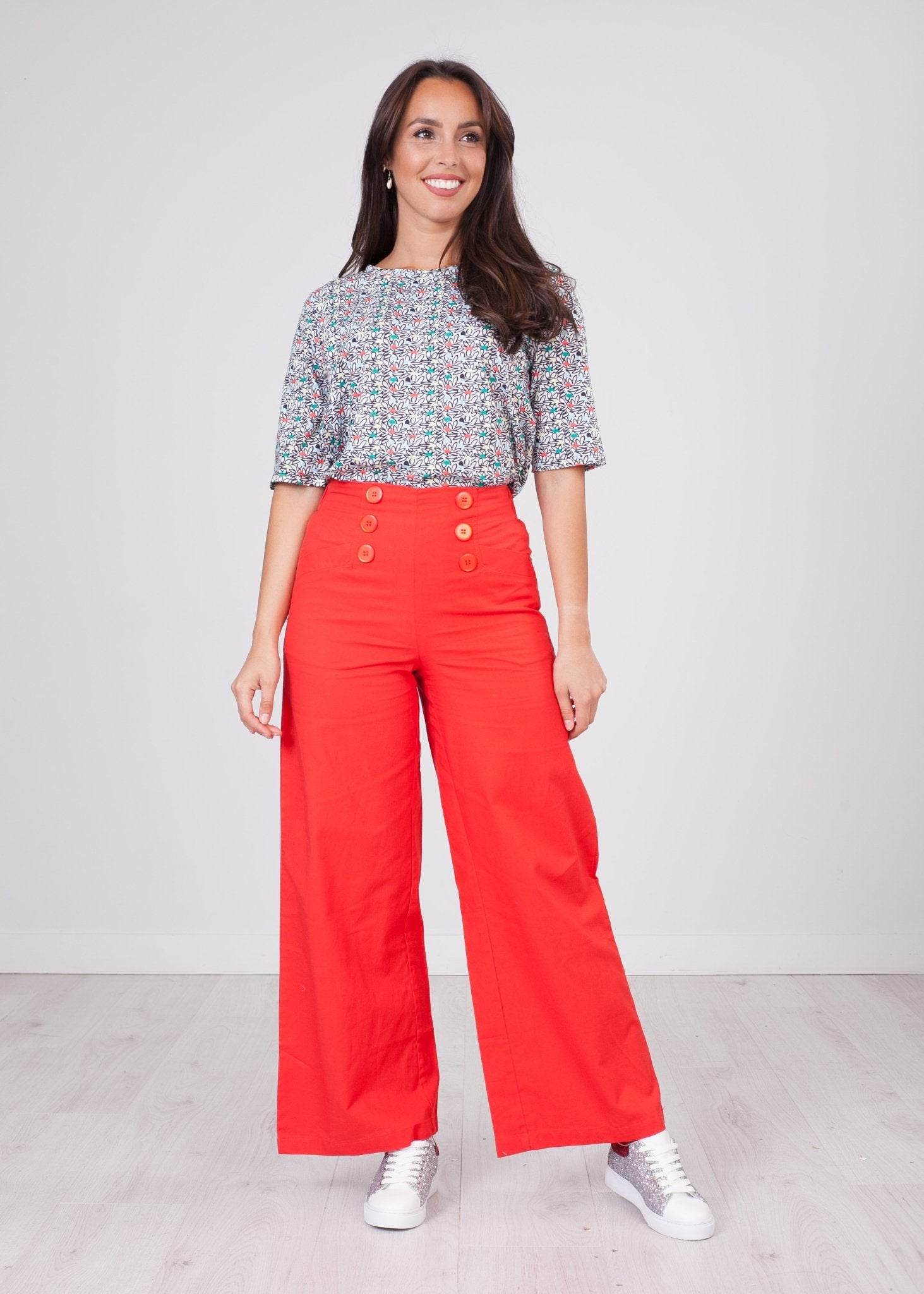 Frankie Red Culottes - The Walk in Wardrobe