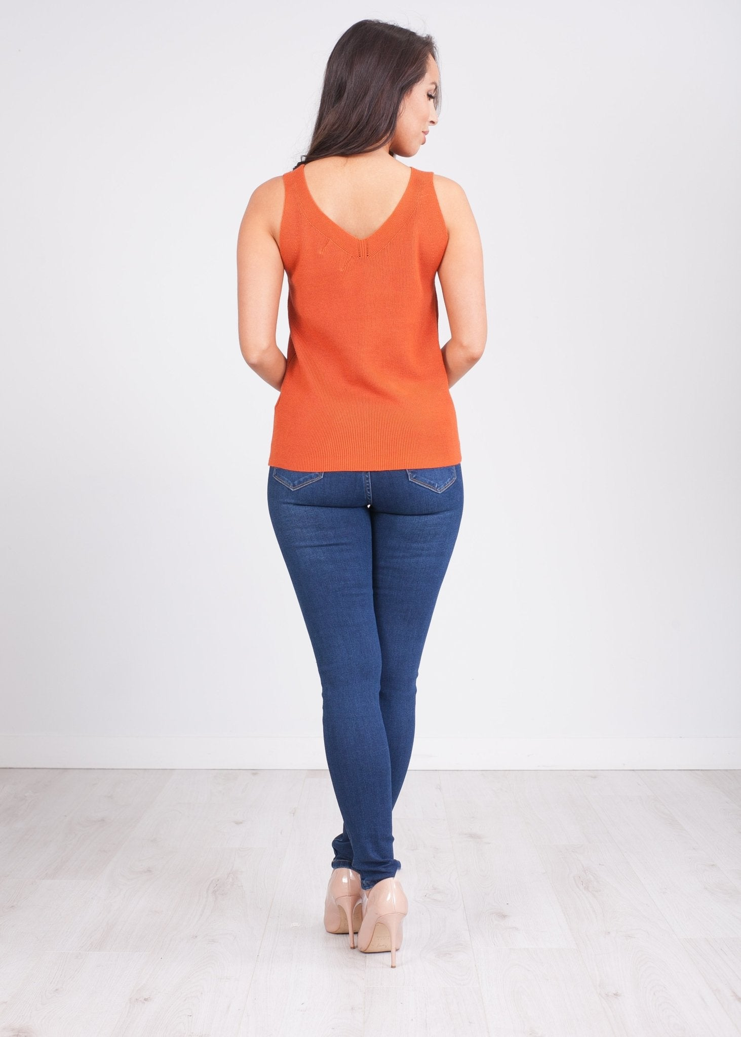 Frankie Rust Vest Top - The Walk in Wardrobe