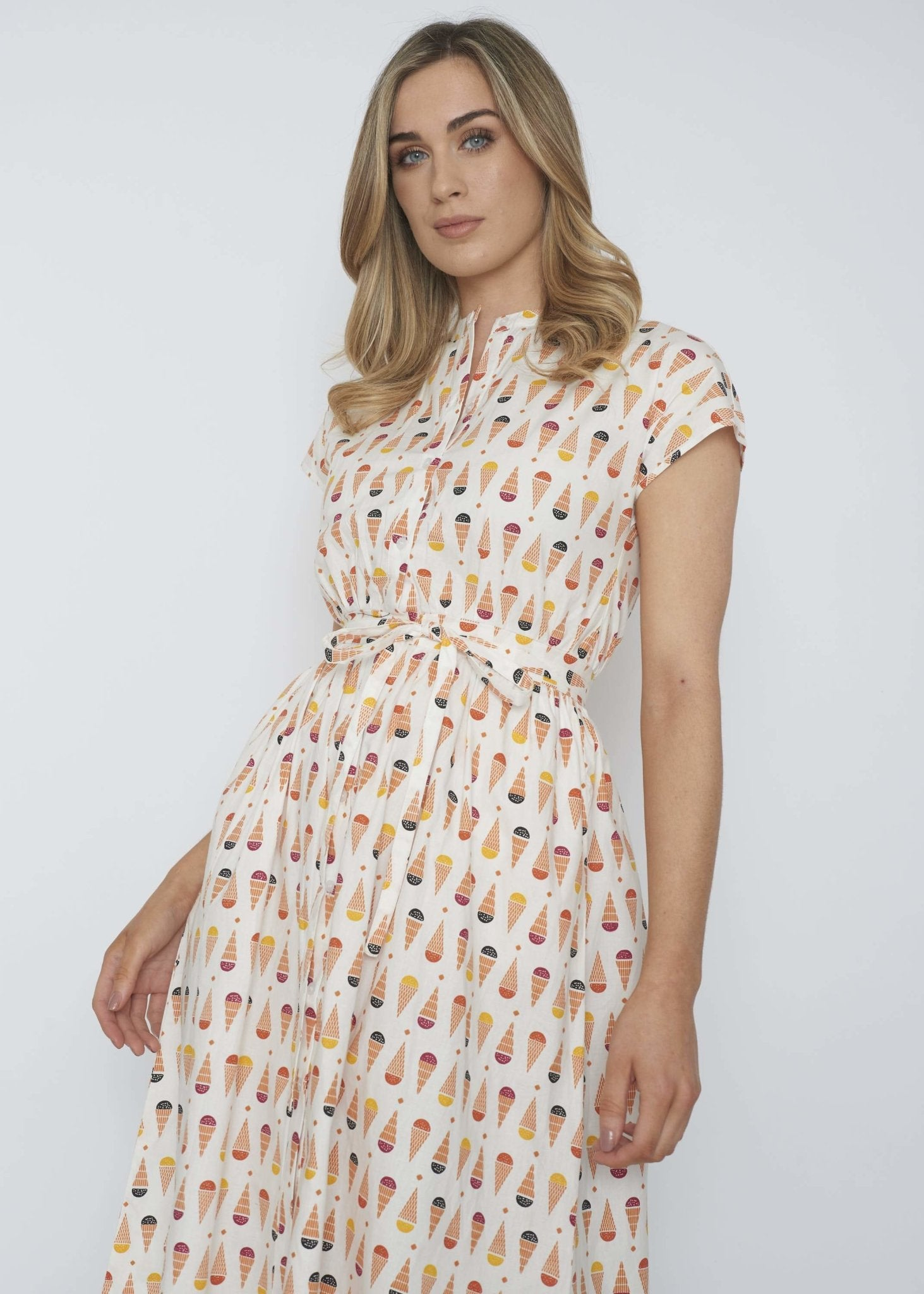 Frankie Shirt Dress In Ice Cream Print - The Walk in Wardrobe