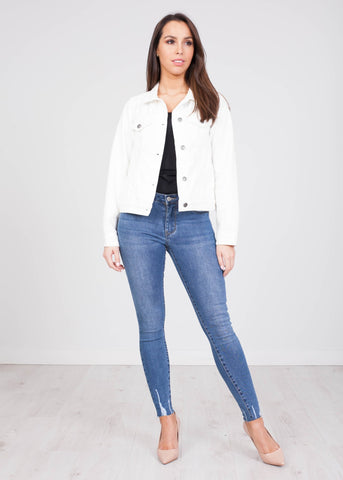 Frankie White Denim Jacket - The Walk in Wardrobe