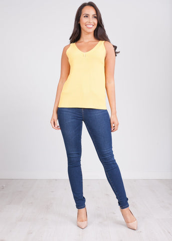 Frankie Yellow Vest Top - The Walk in Wardrobe