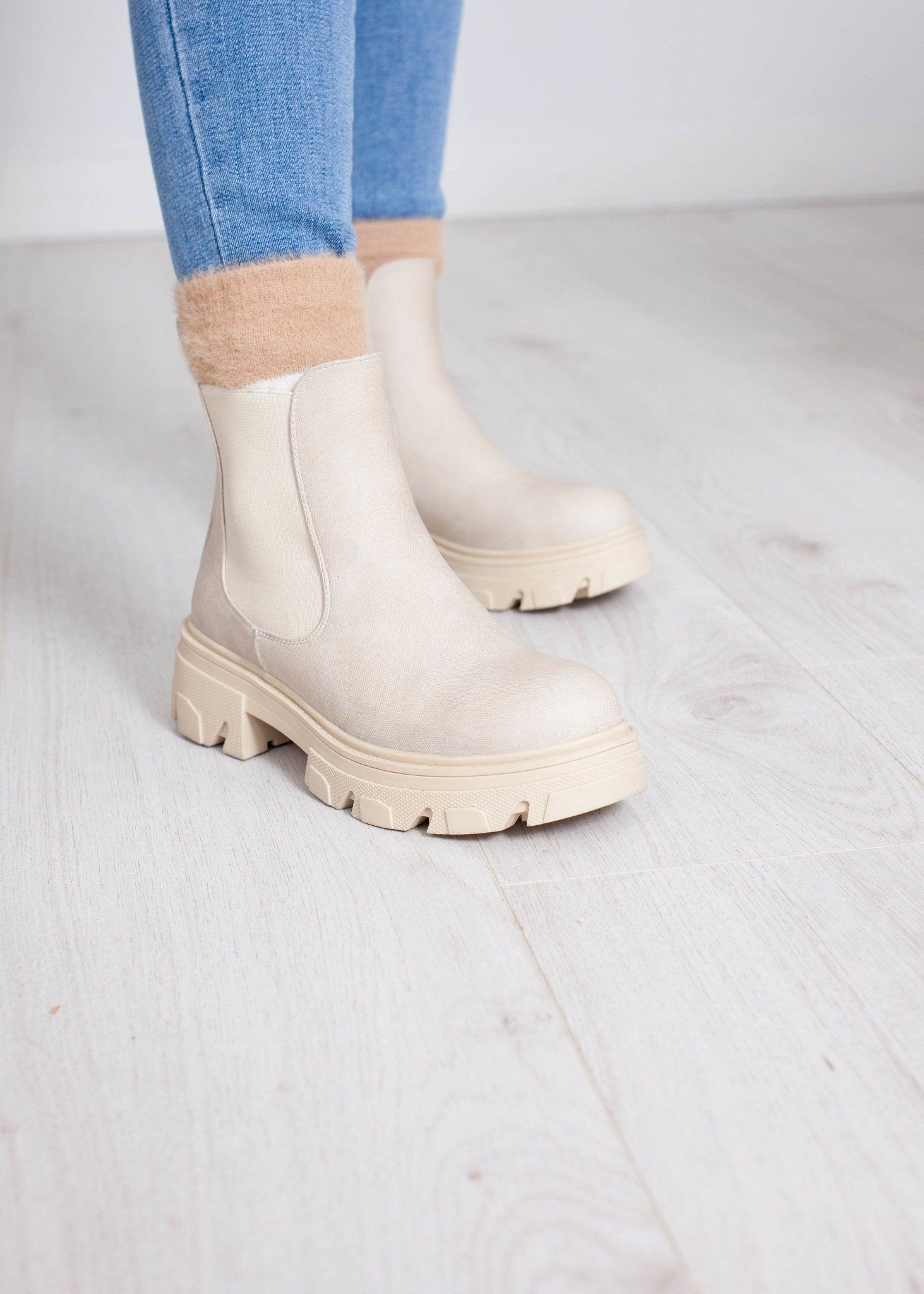 Gabby Ankle Boot In Neutral - The Walk in Wardrobe