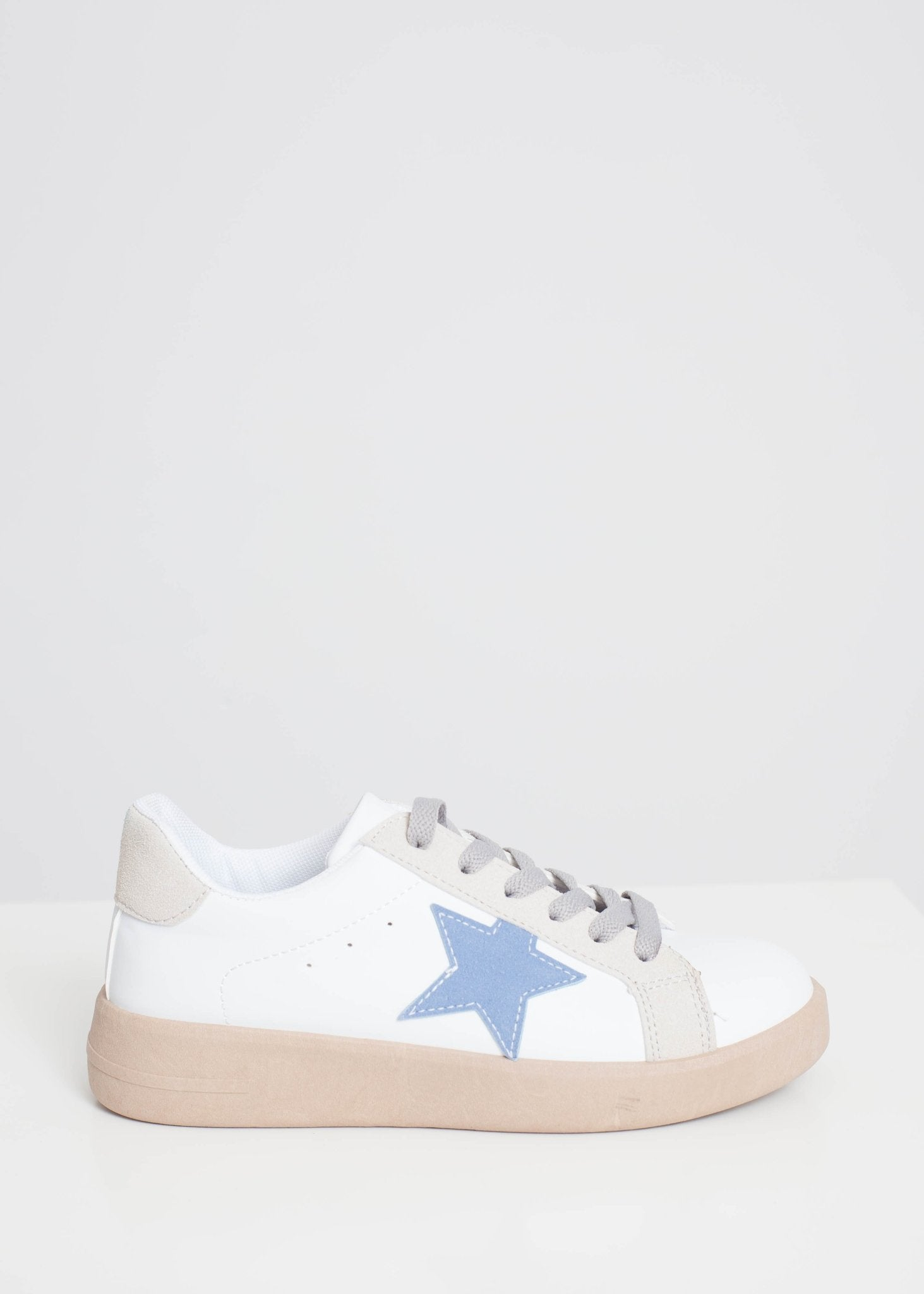 Gabby Chunky Star Trainer In Blue Mix - The Walk in Wardrobe