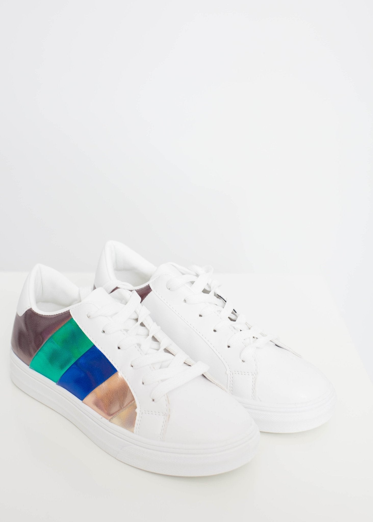 Gabby Colour Block Trainer In Multi Colour - The Walk in Wardrobe