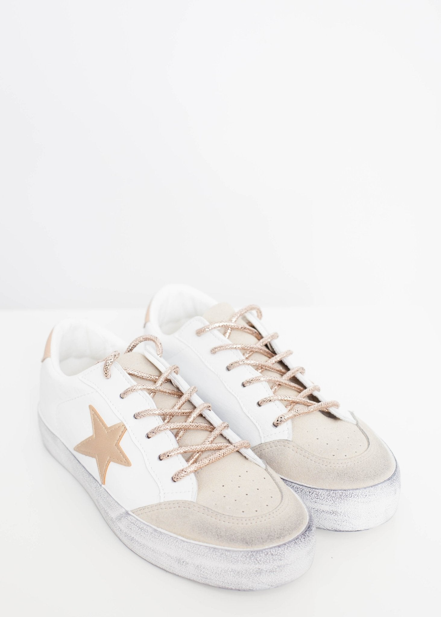 Gabby Star Trainer In Gold Mix - The Walk in Wardrobe