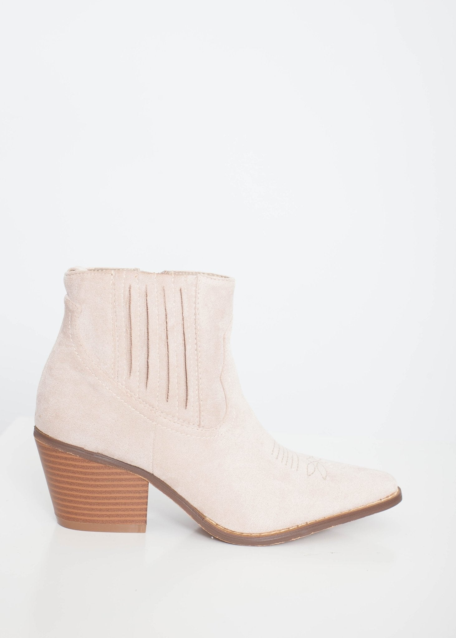Gabby Western Boot In Beige - The Walk in Wardrobe