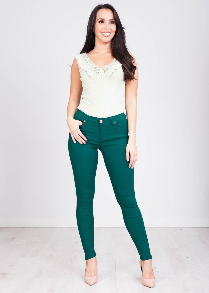 Grace Green Skinny Jean - The Walk in Wardrobe