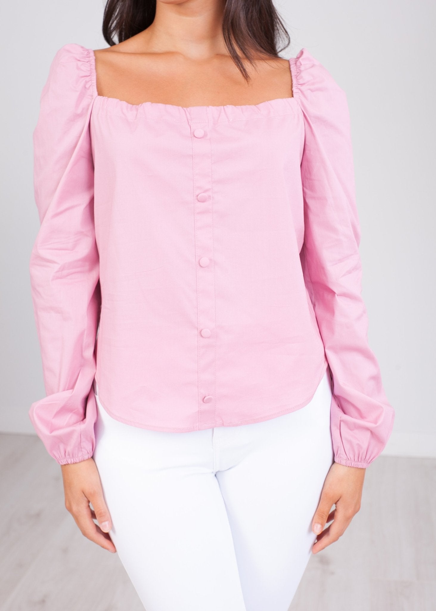 Heidi Pink Bardot Top - The Walk in Wardrobe