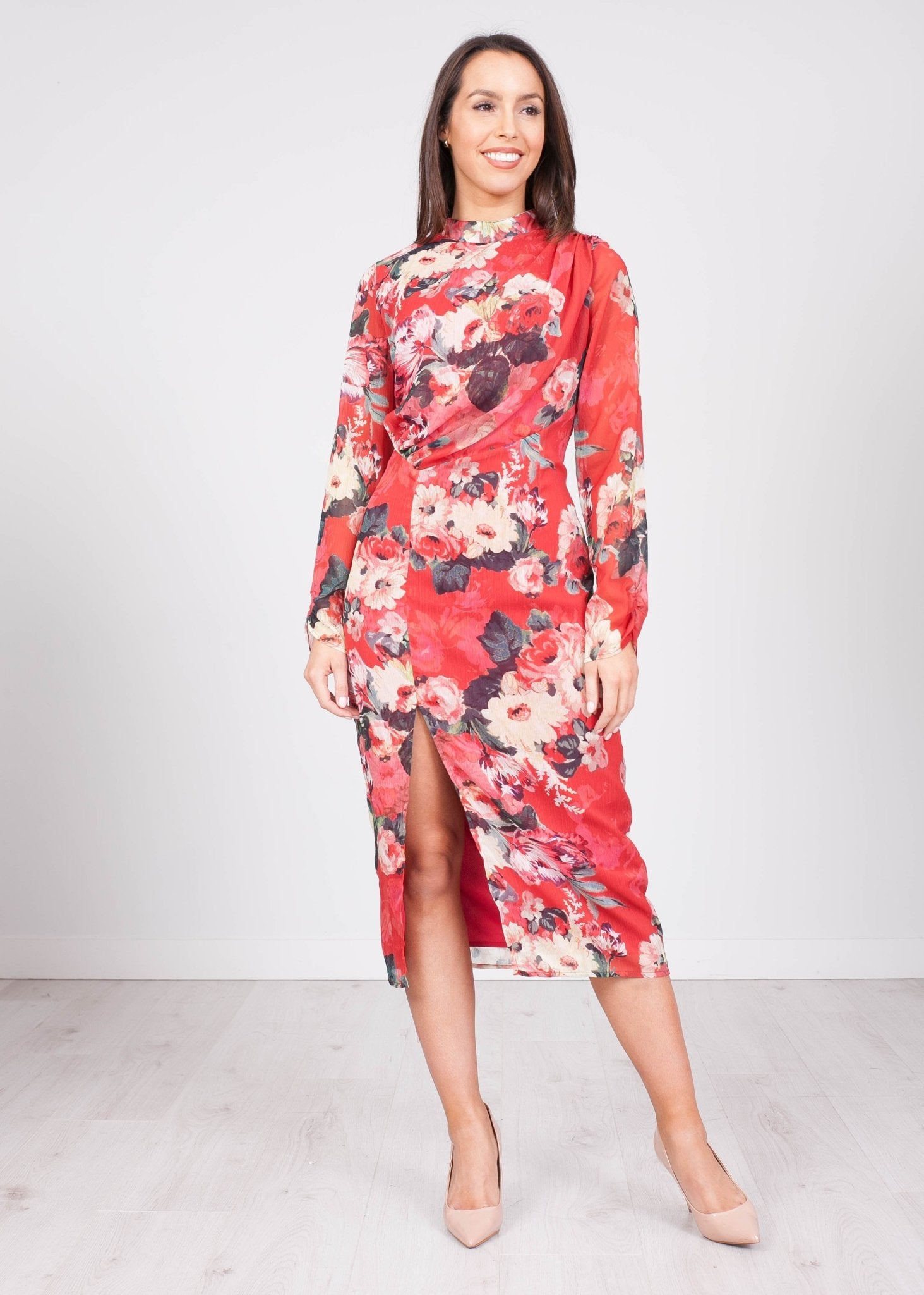Hope Floral Midi Dress - The Walk in Wardrobe