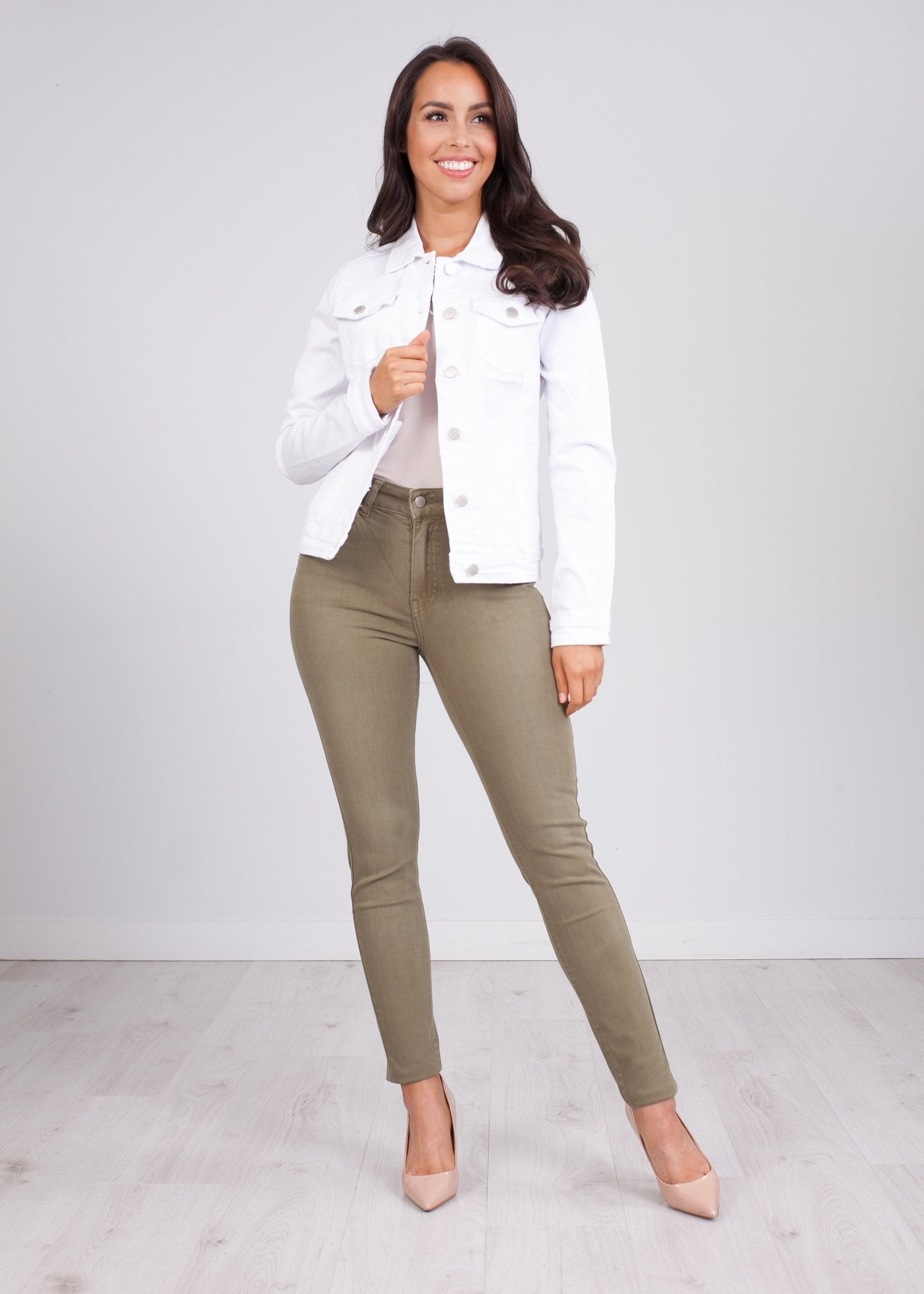 Isla White Denim Jacket - The Walk in Wardrobe