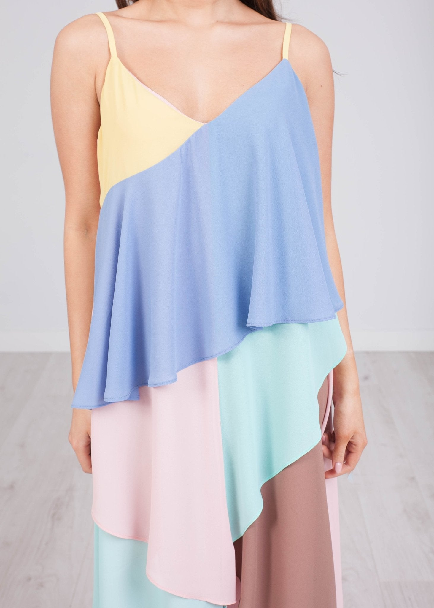 Jasmine Colour Block Cami Dress - The Walk in Wardrobe