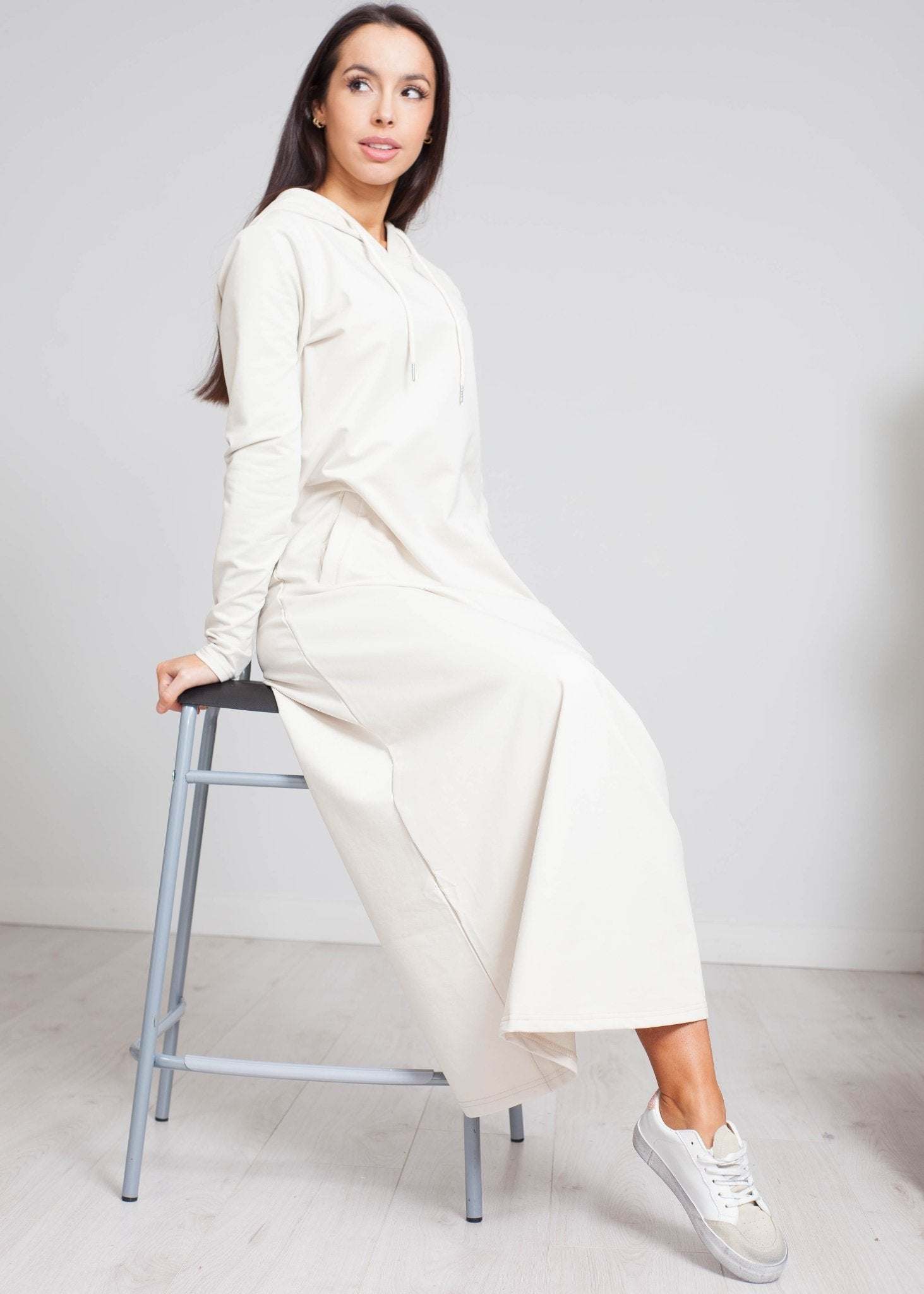 Jayme Tie Waist Dress In Stone - The Walk in Wardrobe