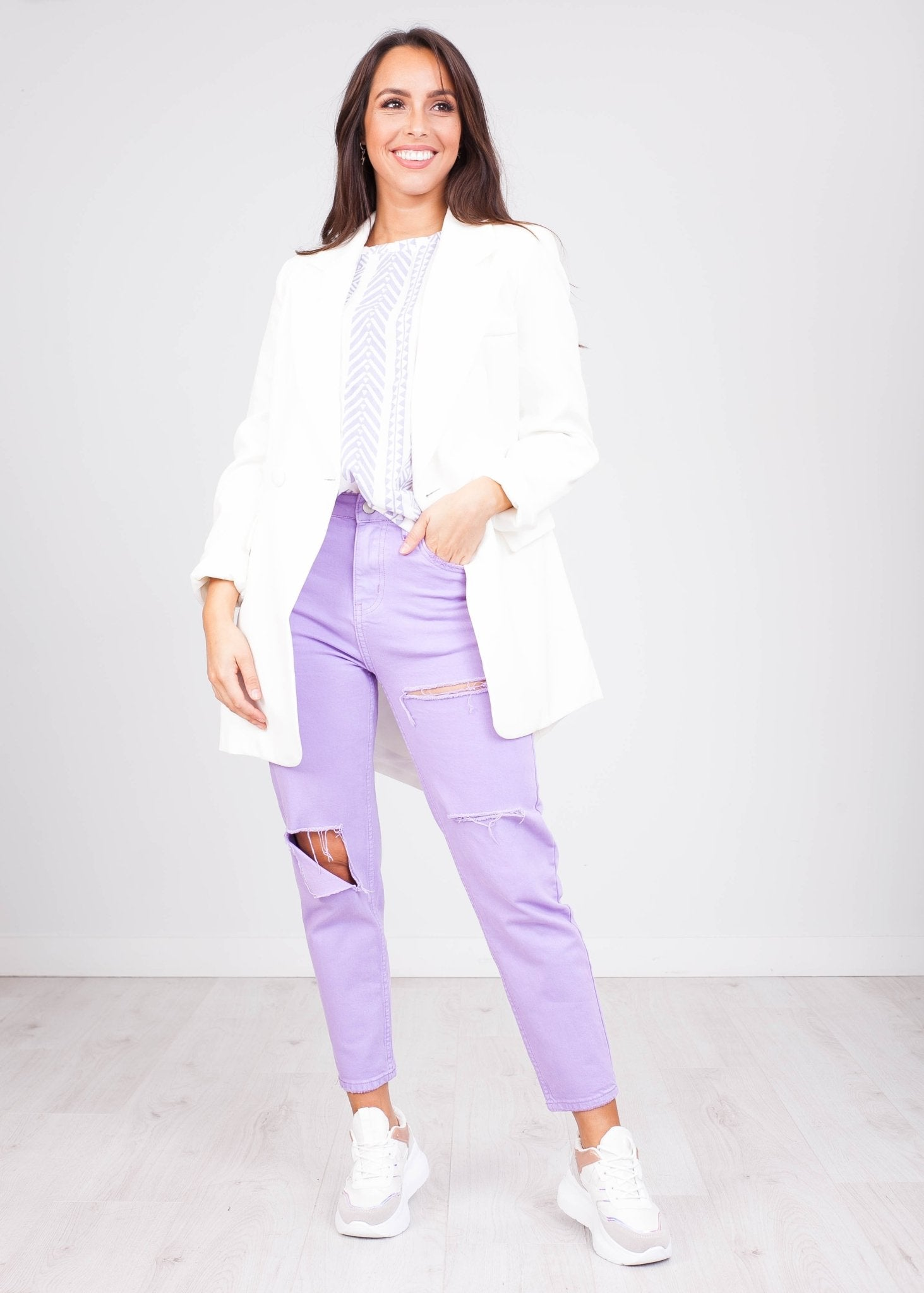'Kenzee' Lilac Mom Jeans - The Walk in Wardrobe