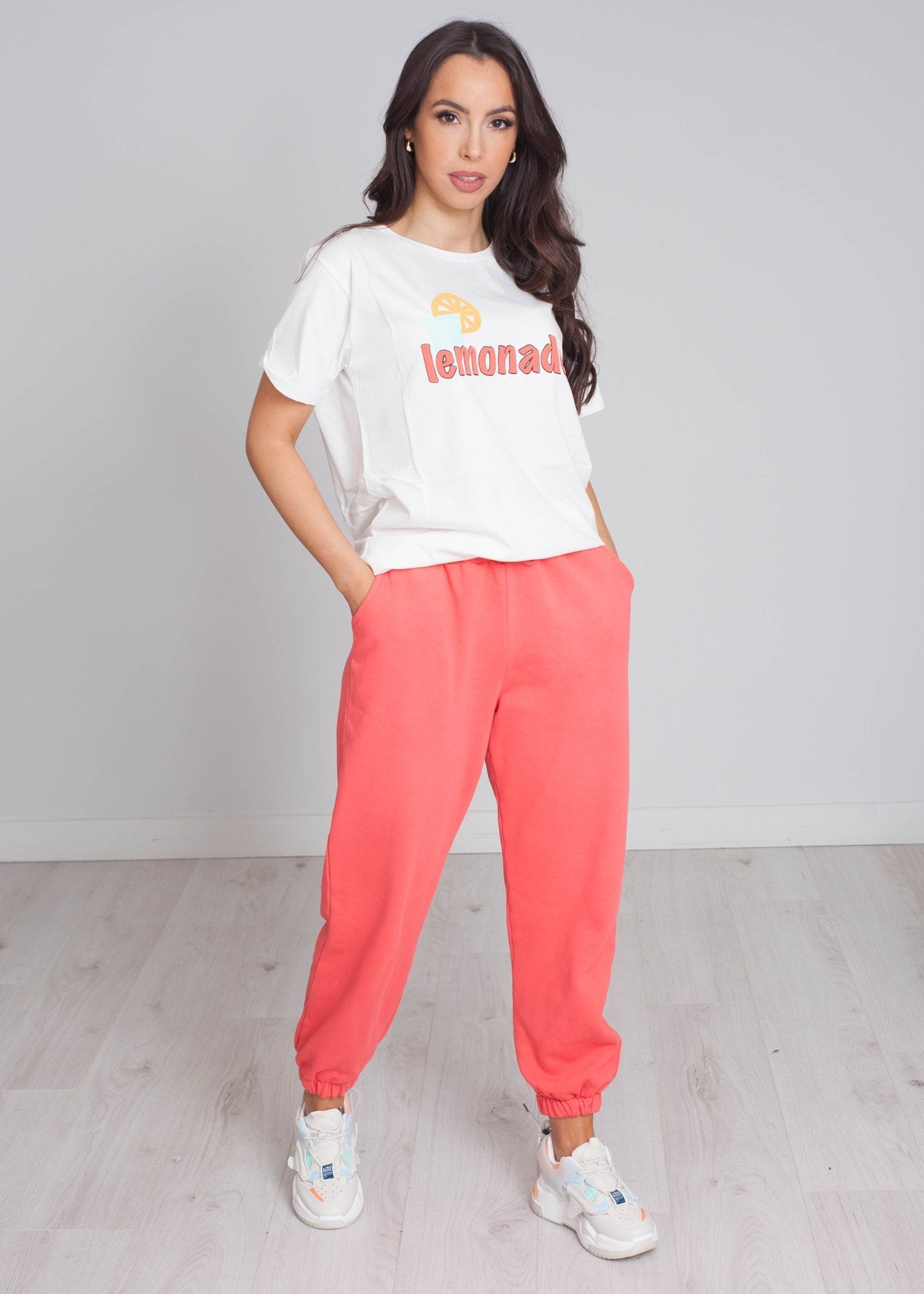 Laura Joggers In Coral - The Walk in Wardrobe