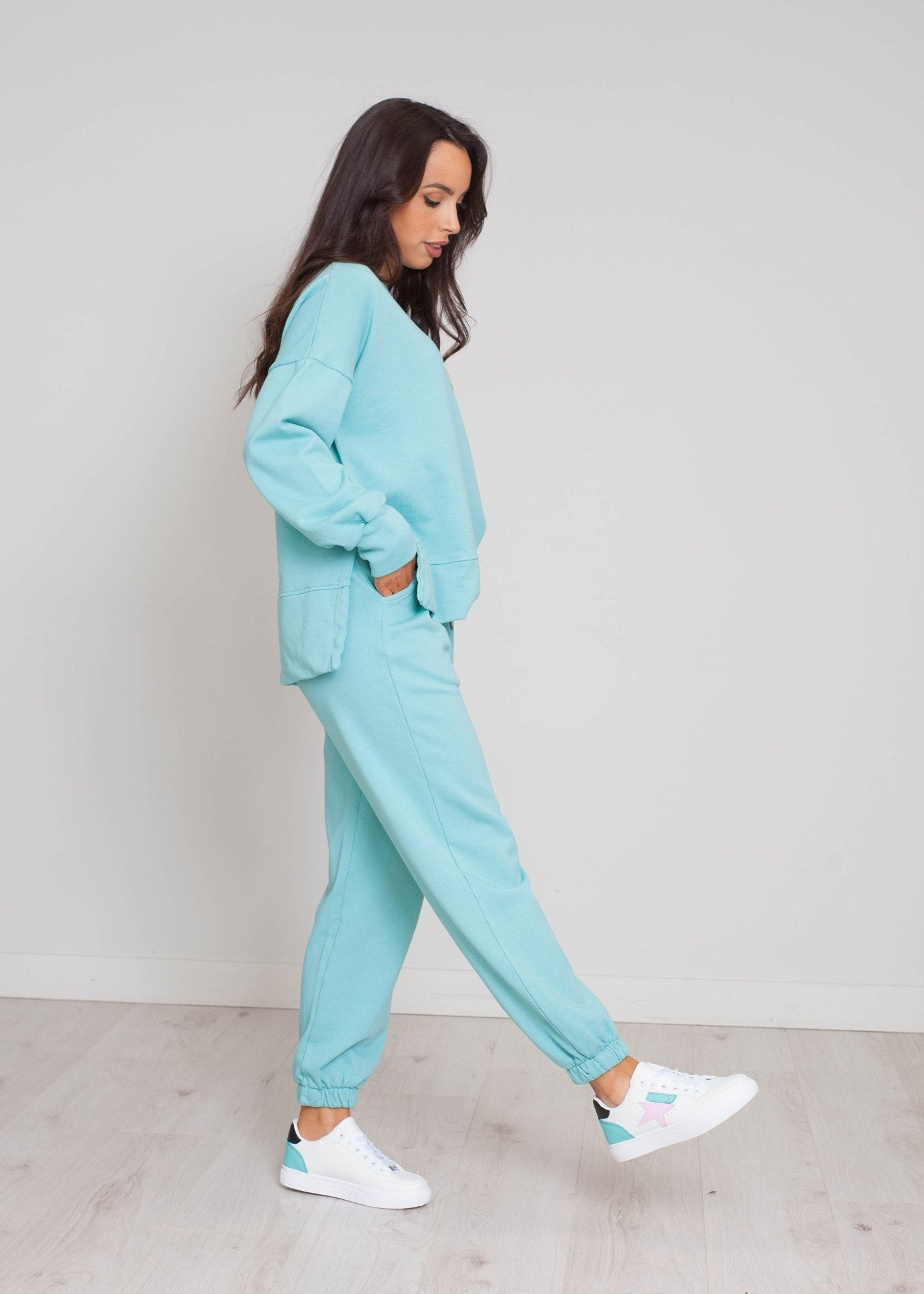 Laura Joggers In Duck Egg - The Walk in Wardrobe