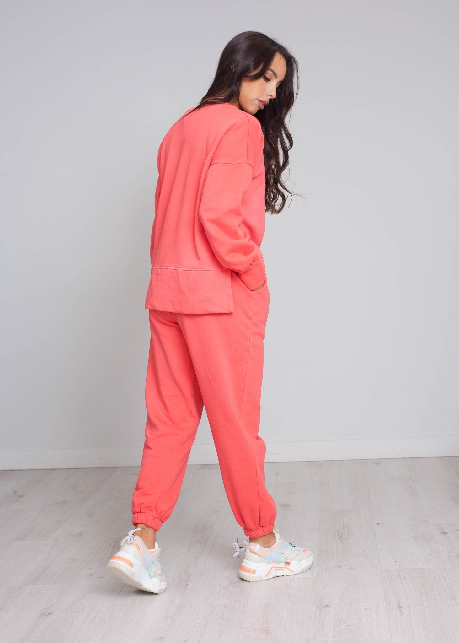 Laura Sweatshirt In Coral - The Walk in Wardrobe