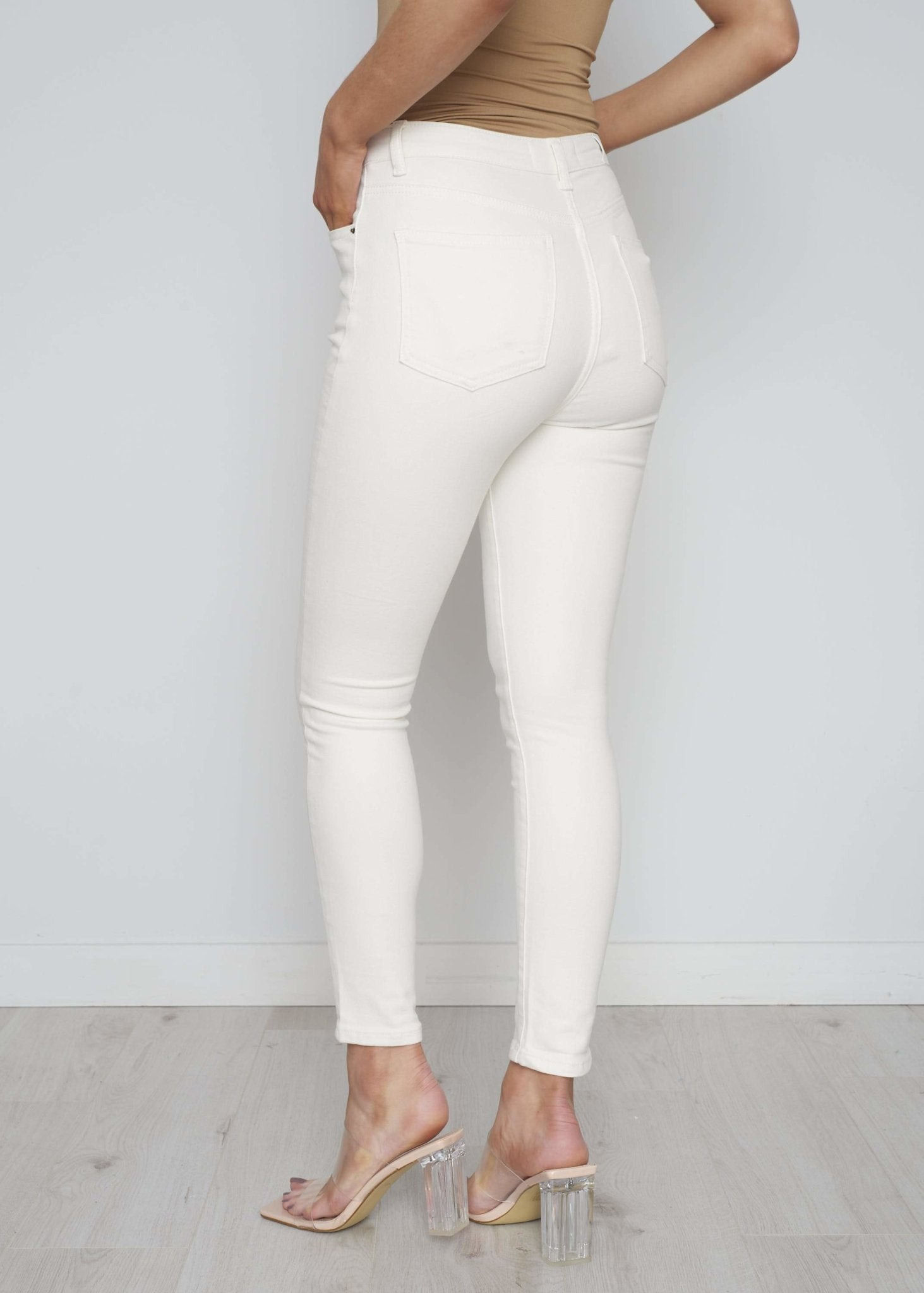 Marian Skinny Jean In Cream - The Walk in Wardrobe