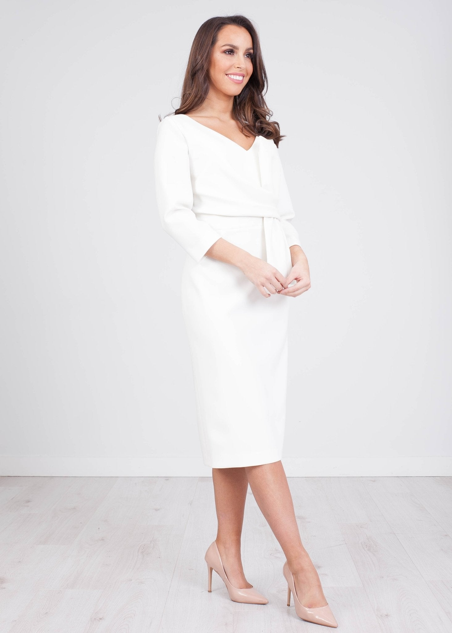 Marissa Cream Dress - The Walk in Wardrobe