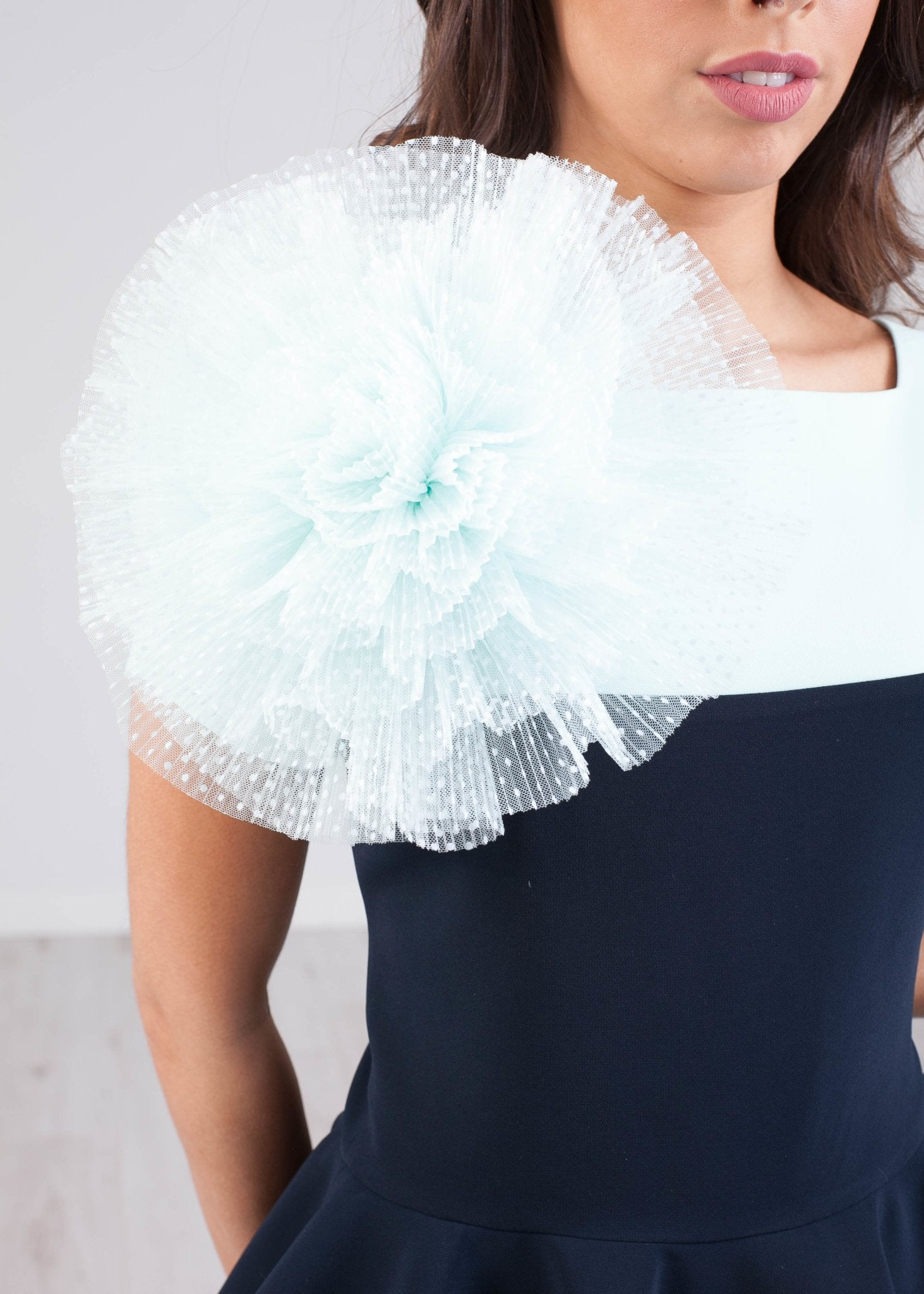Marissa Mint & Navy Two Piece - The Walk in Wardrobe