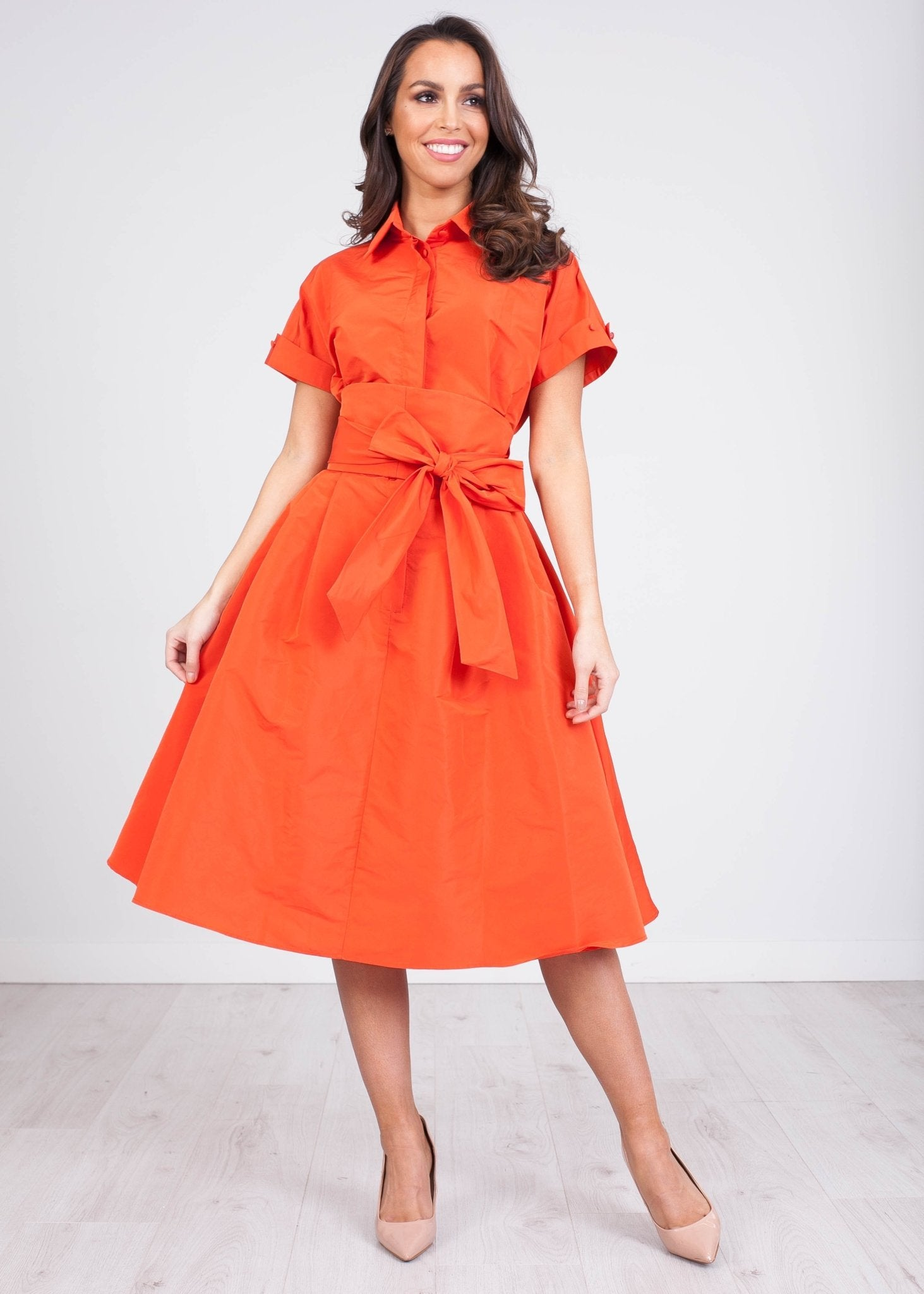 Marissa Orange Dress - The Walk in Wardrobe