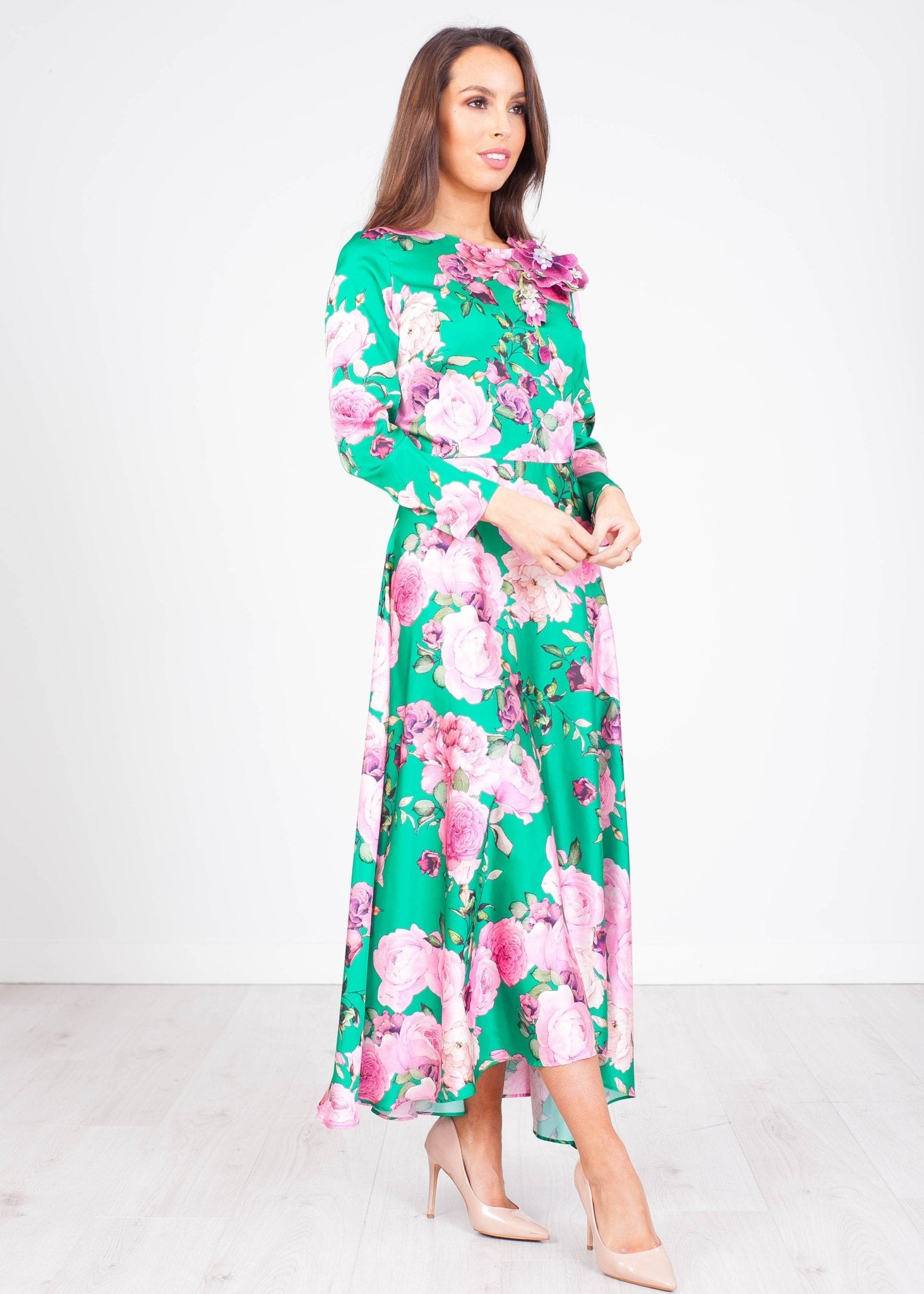 Matilda Green & Pink Dress - The Walk in Wardrobe