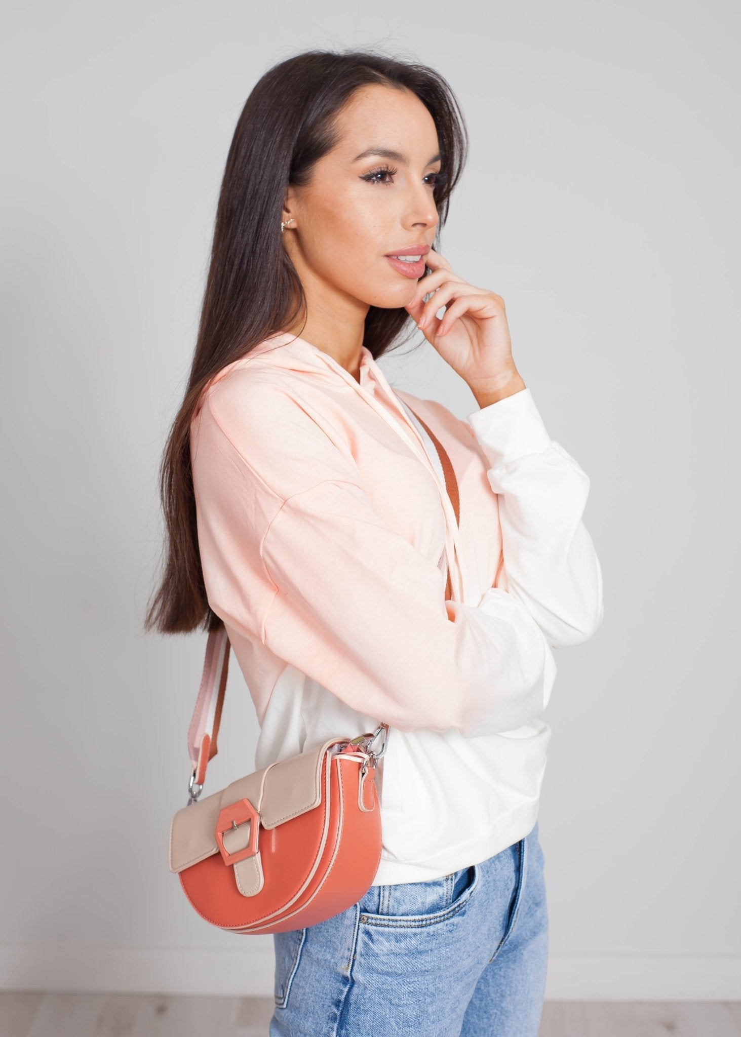 Nora Ombré Hoodie In Coral - The Walk in Wardrobe