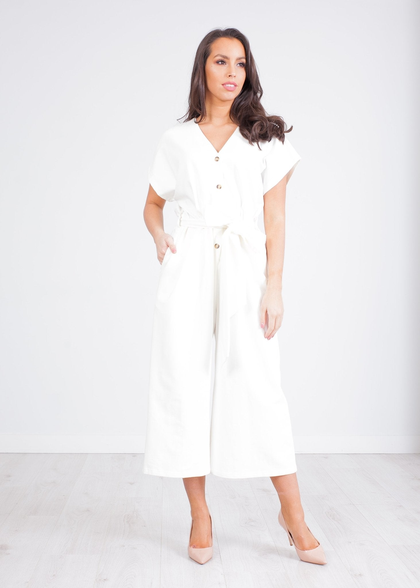 Paige White Culotte Jumpsuit - The Walk in Wardrobe