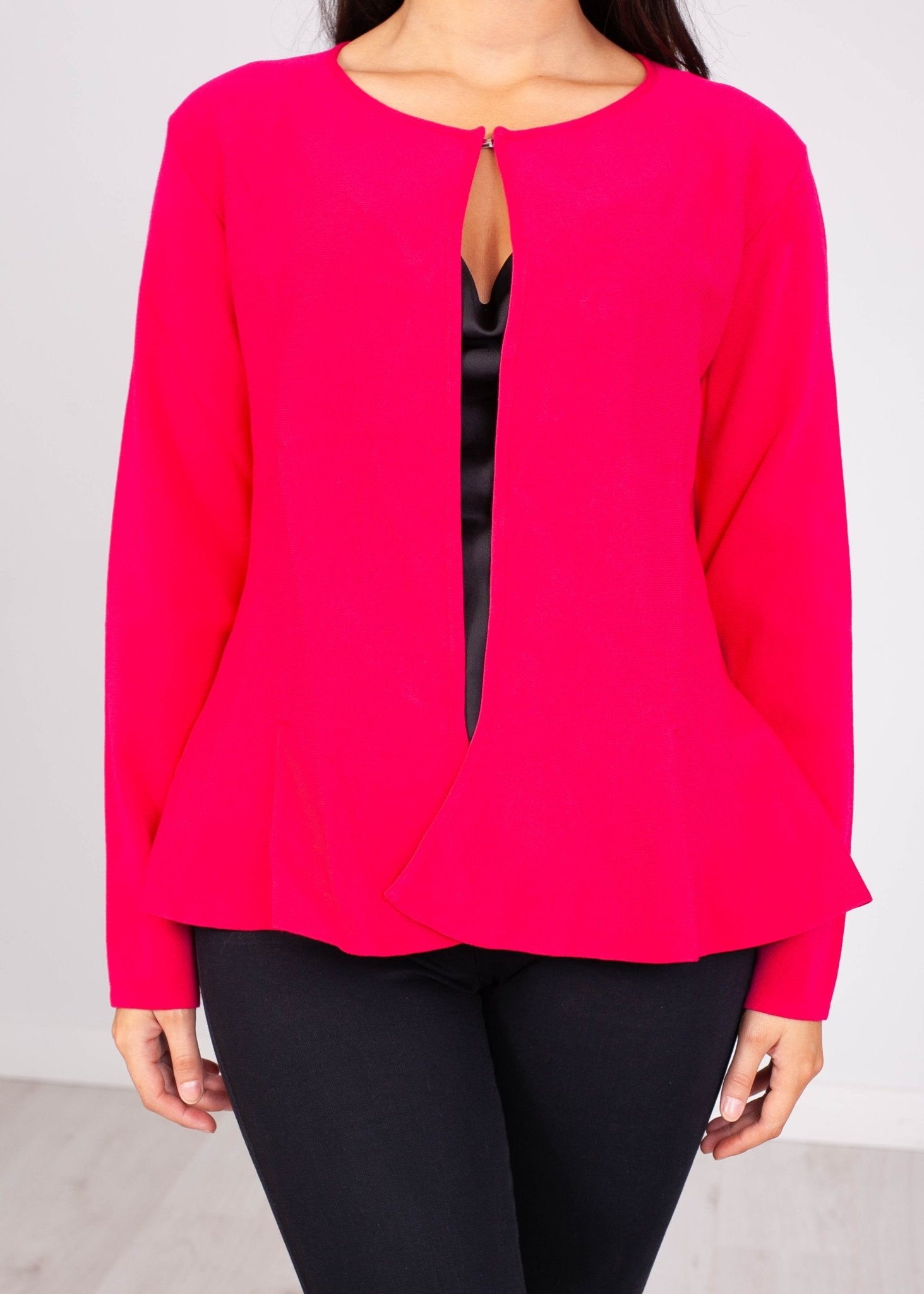 Perla Pink Peplum Cardigan - The Walk in Wardrobe