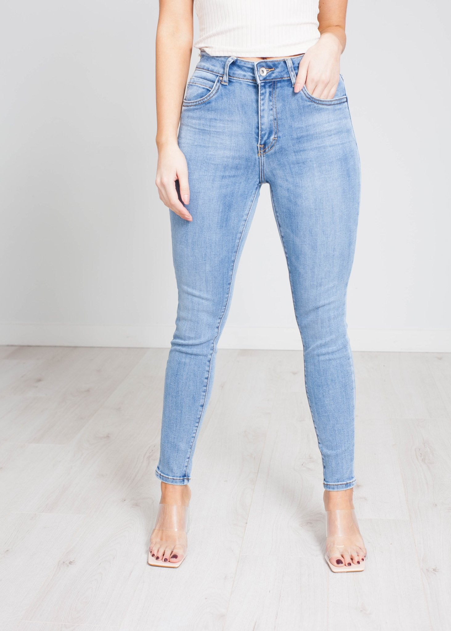 Piper High Waist Skinny Jean In Light Denim - The Walk in Wardrobe