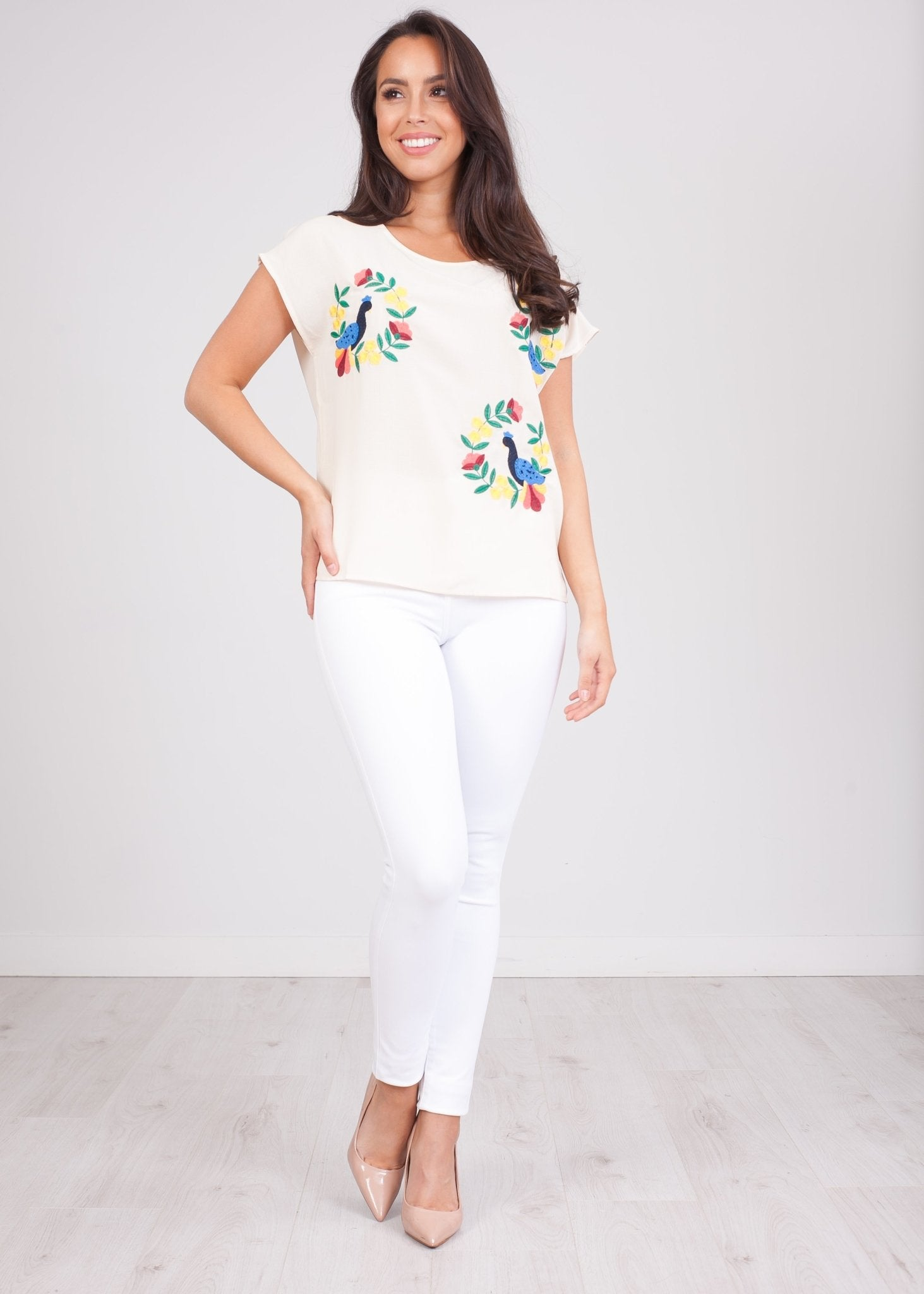 Pippa Bird Embroidered Top - The Walk in Wardrobe