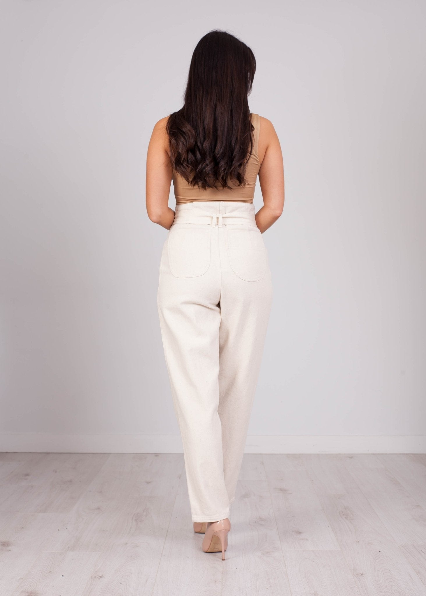 Poppy Cream High Waisted Jean - The Walk in Wardrobe