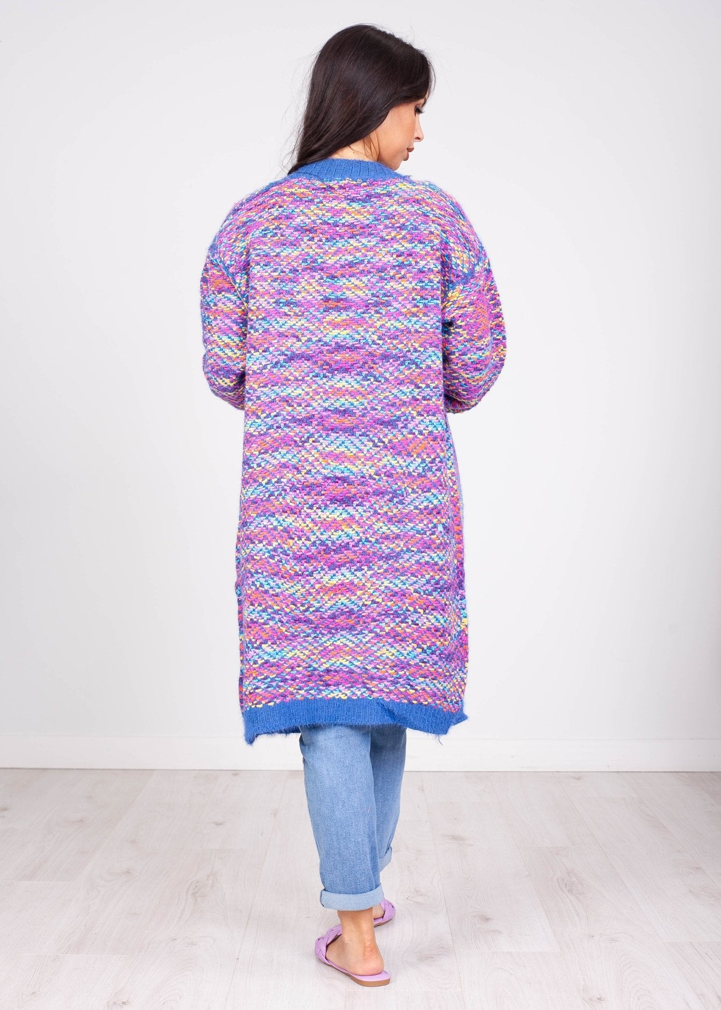 *Pre-Order* Emilia Blue Rainbow Cardigan - The Walk in Wardrobe