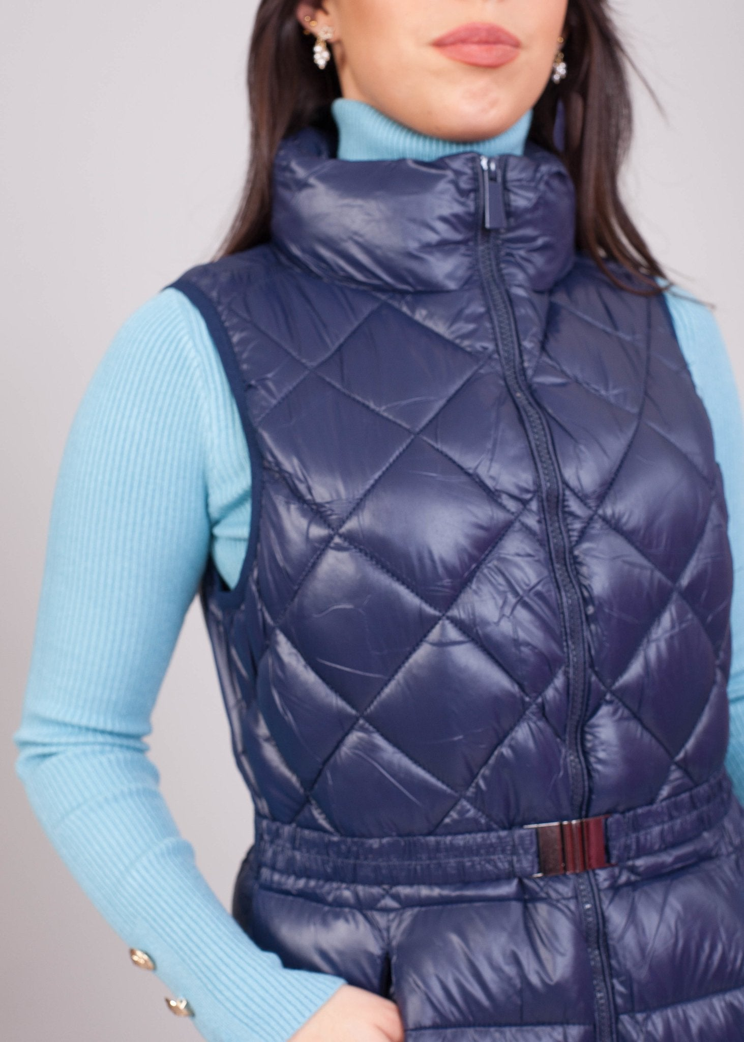 *Pre-Order* Priya Navy Longline Gilet - The Walk in Wardrobe