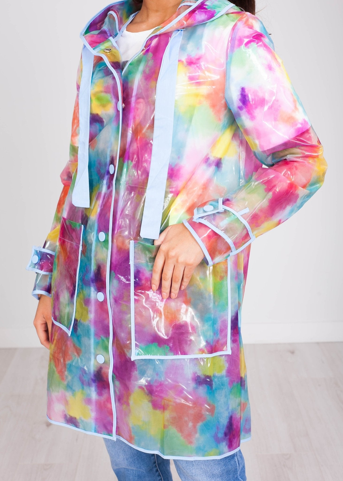 *Pre Order* Priya Rainbow Raincoat - The Walk in Wardrobe