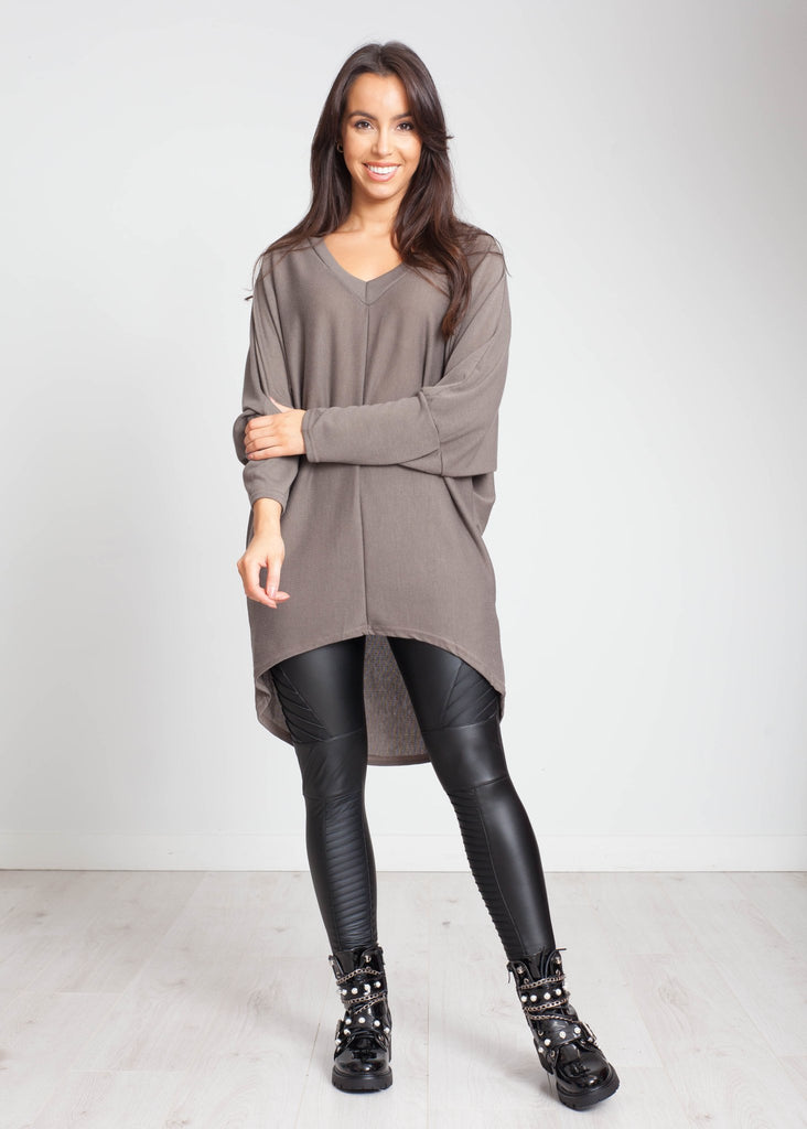 Priya Batwing Tunic In Mink - The Walk in Wardrobe