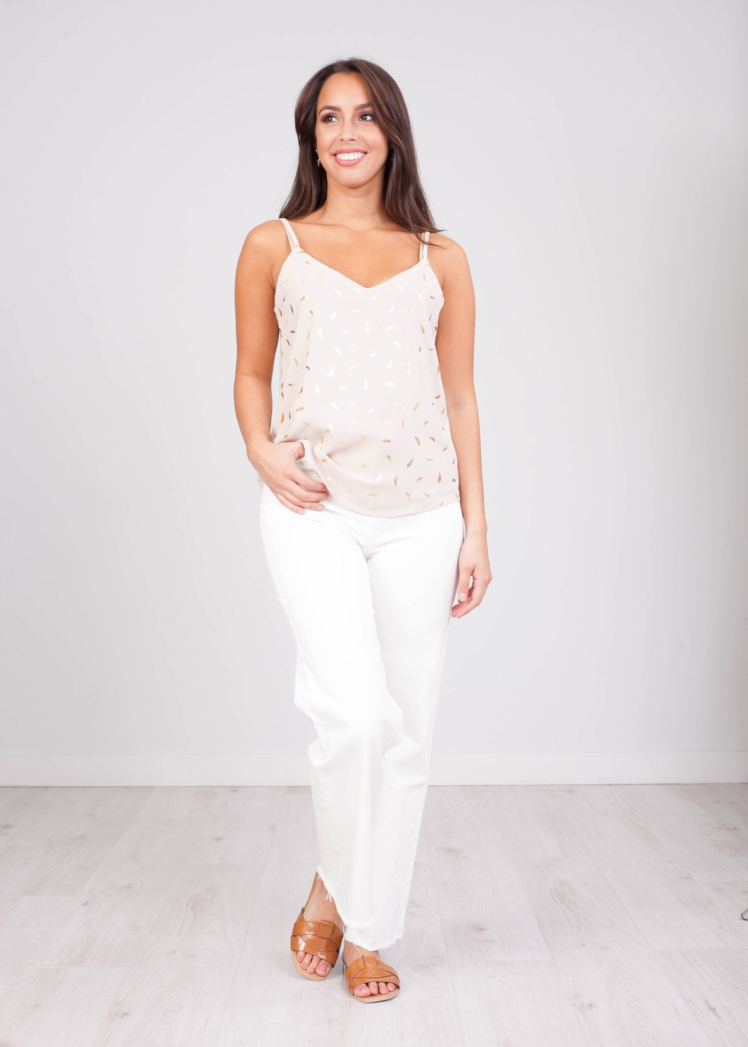 Priya Beige Cami - The Walk in Wardrobe