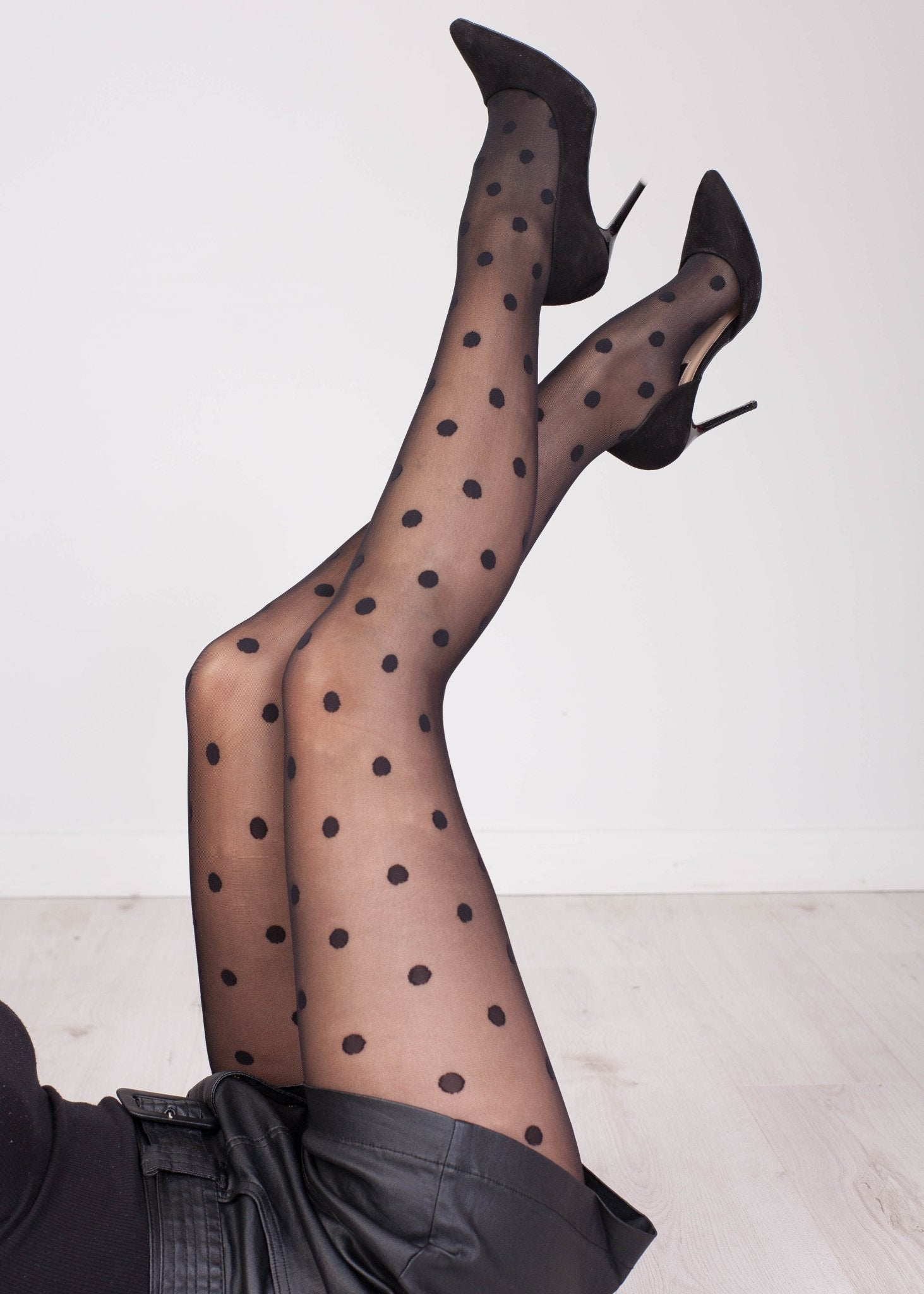 Priya Big Polka Dot Tights - The Walk in Wardrobe