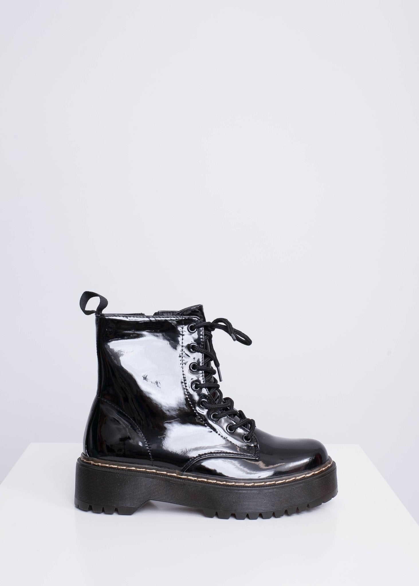 Priya Black Biker Boots - The Walk in Wardrobe